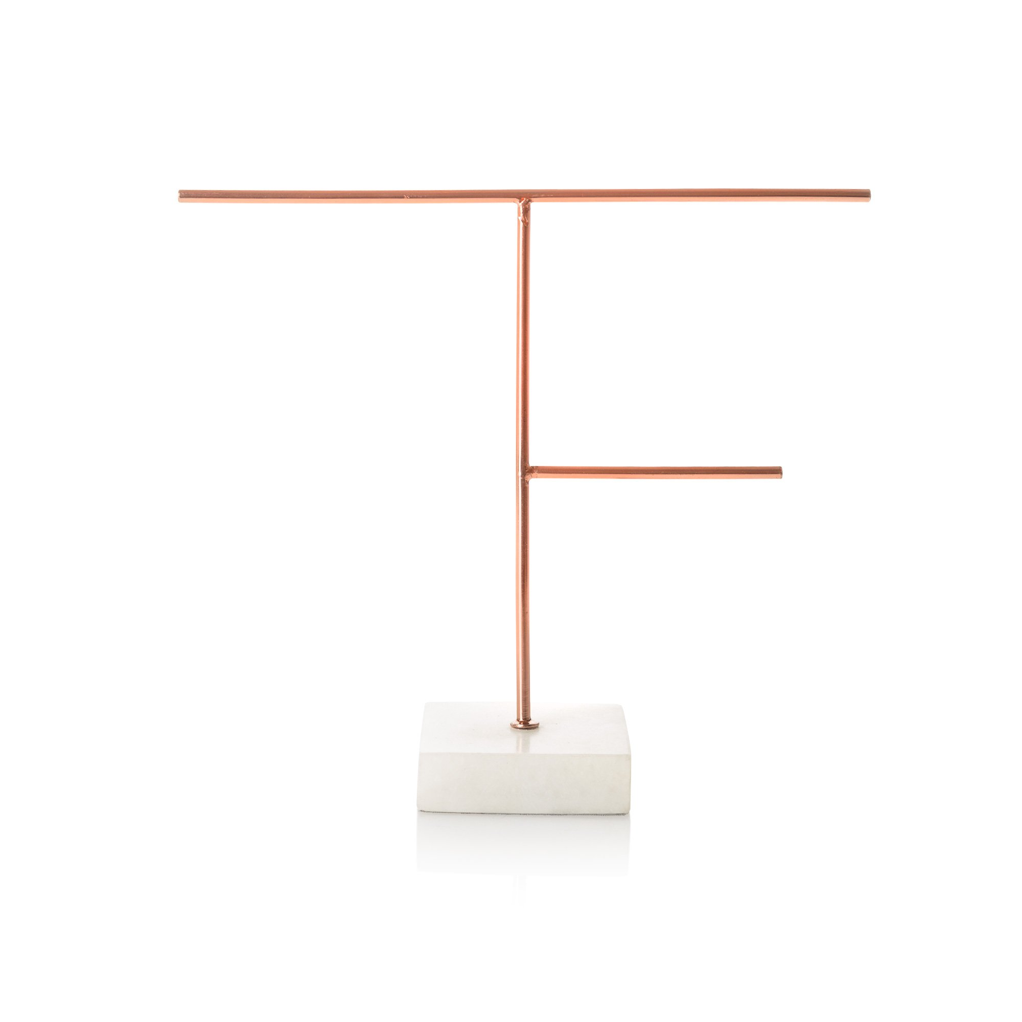 Copper medium copper marble jewellery stand oliver bonas for Sawyer marble jewelry stand