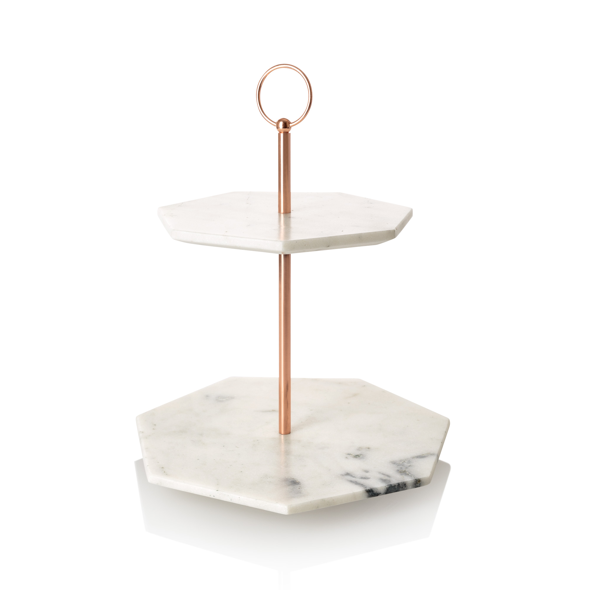 Double Tiered Marble Cake Stand Oliver Bonas