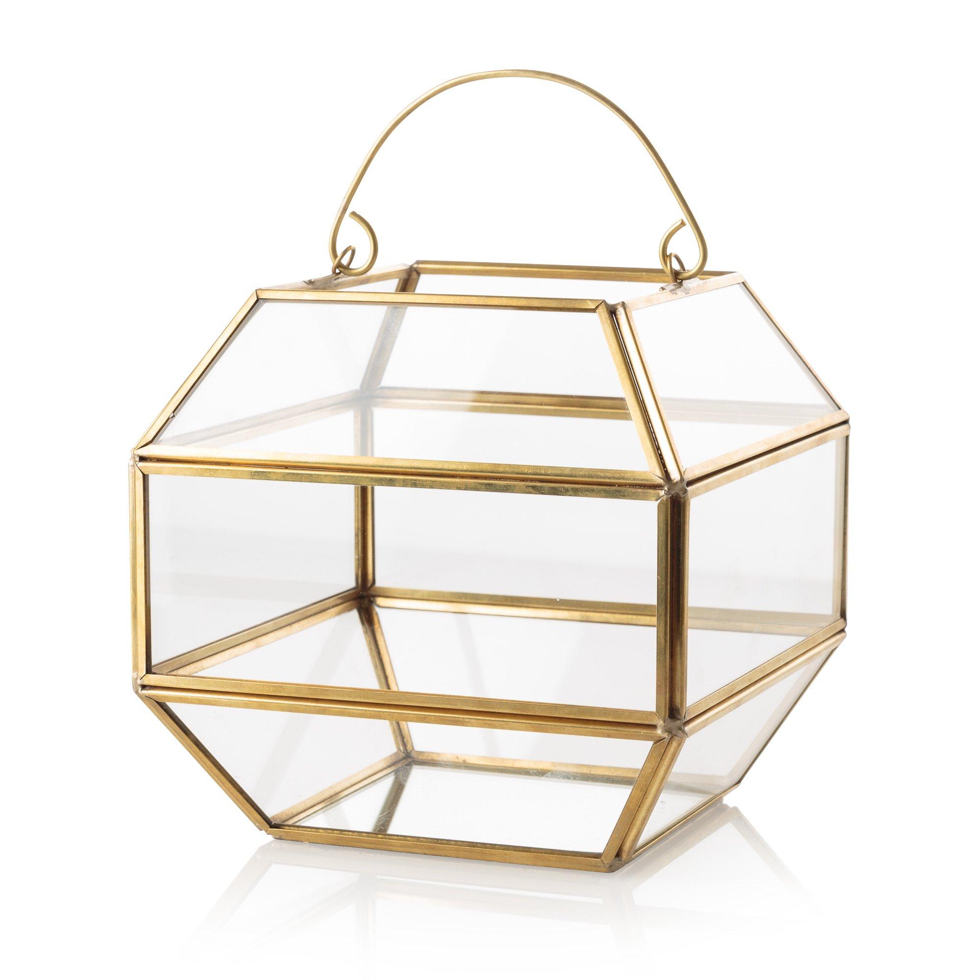 Gold & Glass Gem Terrarium  Oliver Bonas