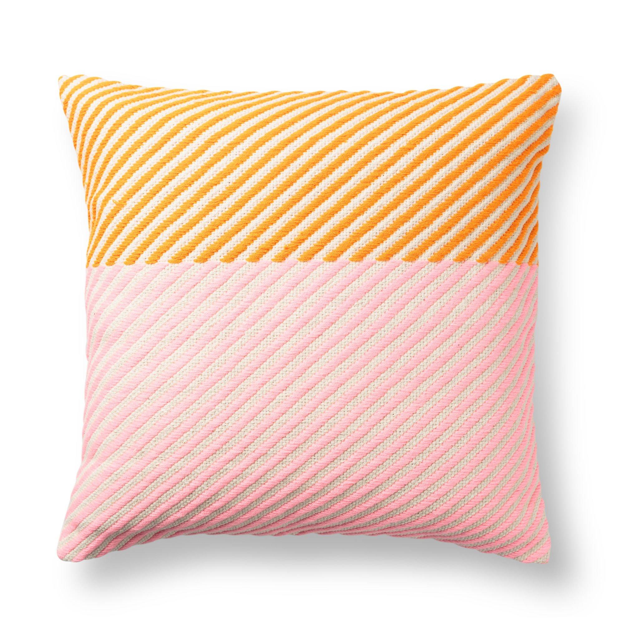 Brand-new Pink Horizontal Block Striped Cushion   Oliver Bonas TF98