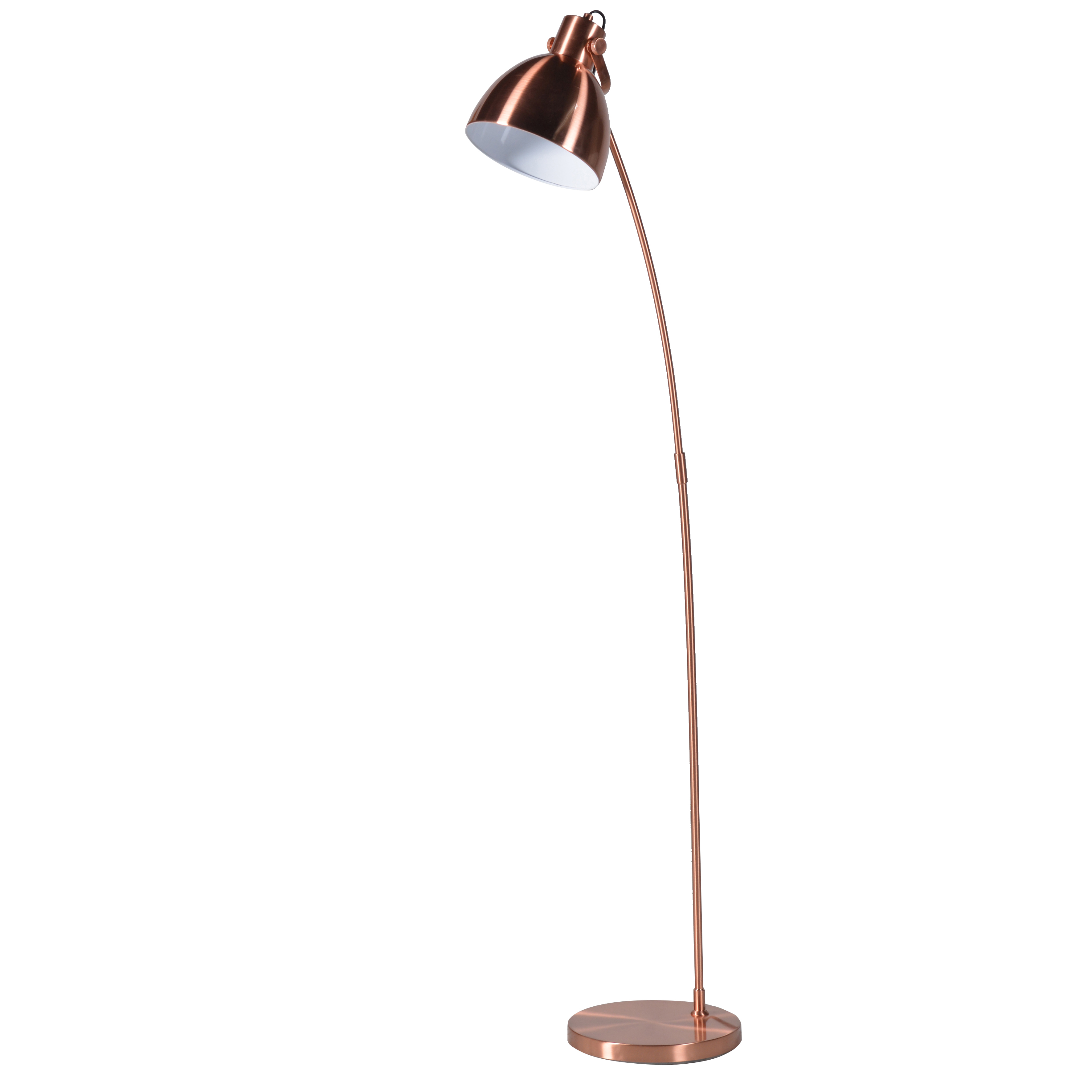 shiny copper floor lamp oliver bonas With shiny copper floor lamp