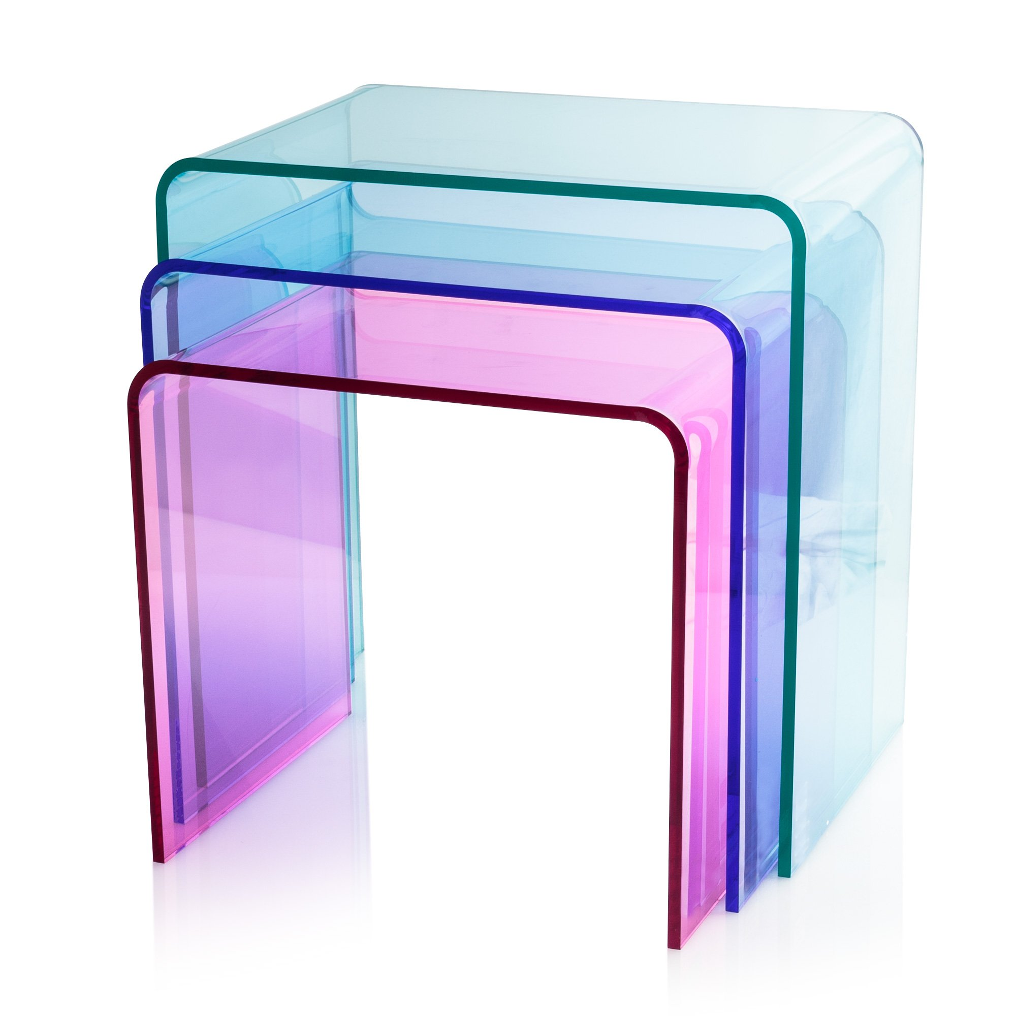 Acrylic Side Table Interesting Noir With Awesome Kartell
