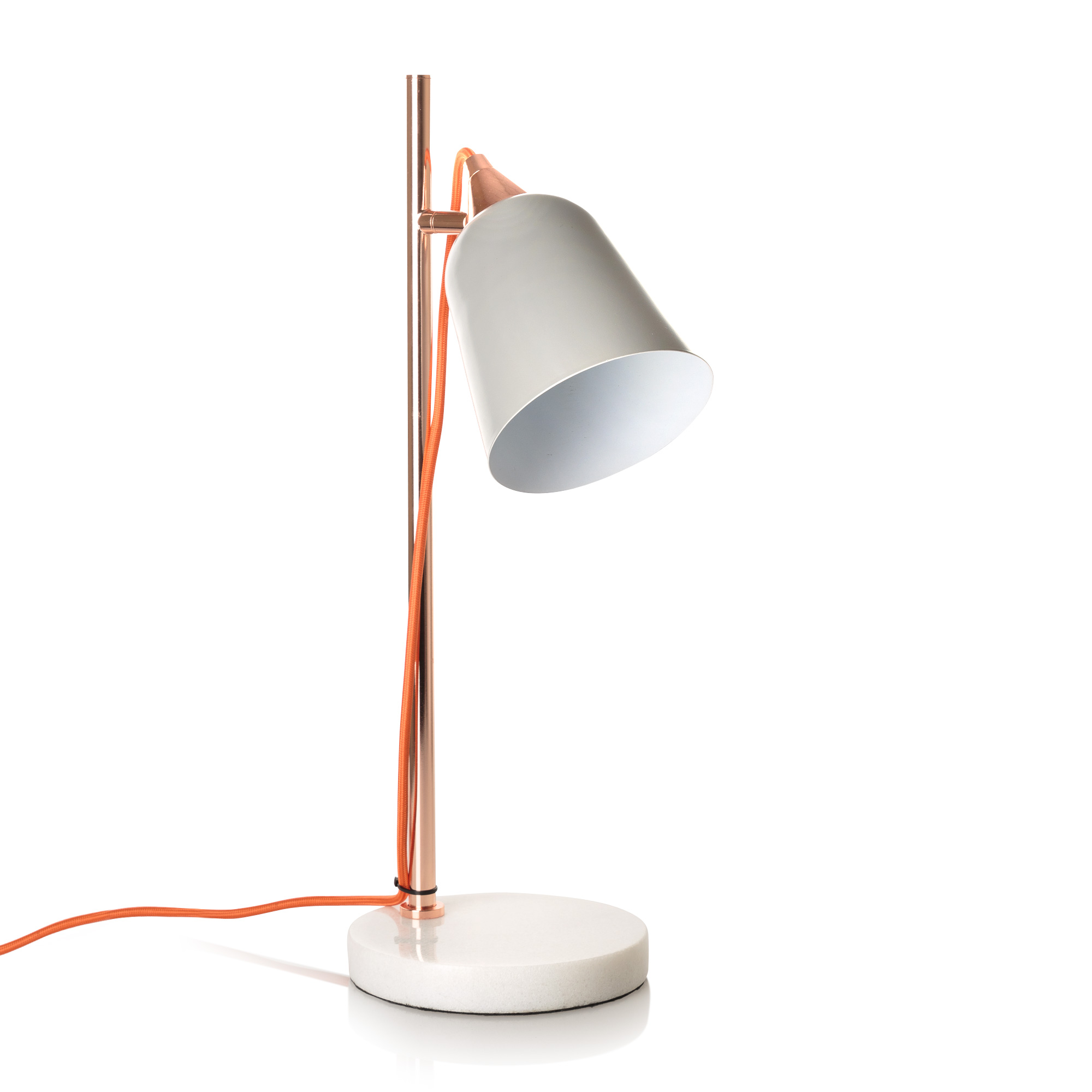 Grey Table Lamp With Marble Base Oliver Bonas