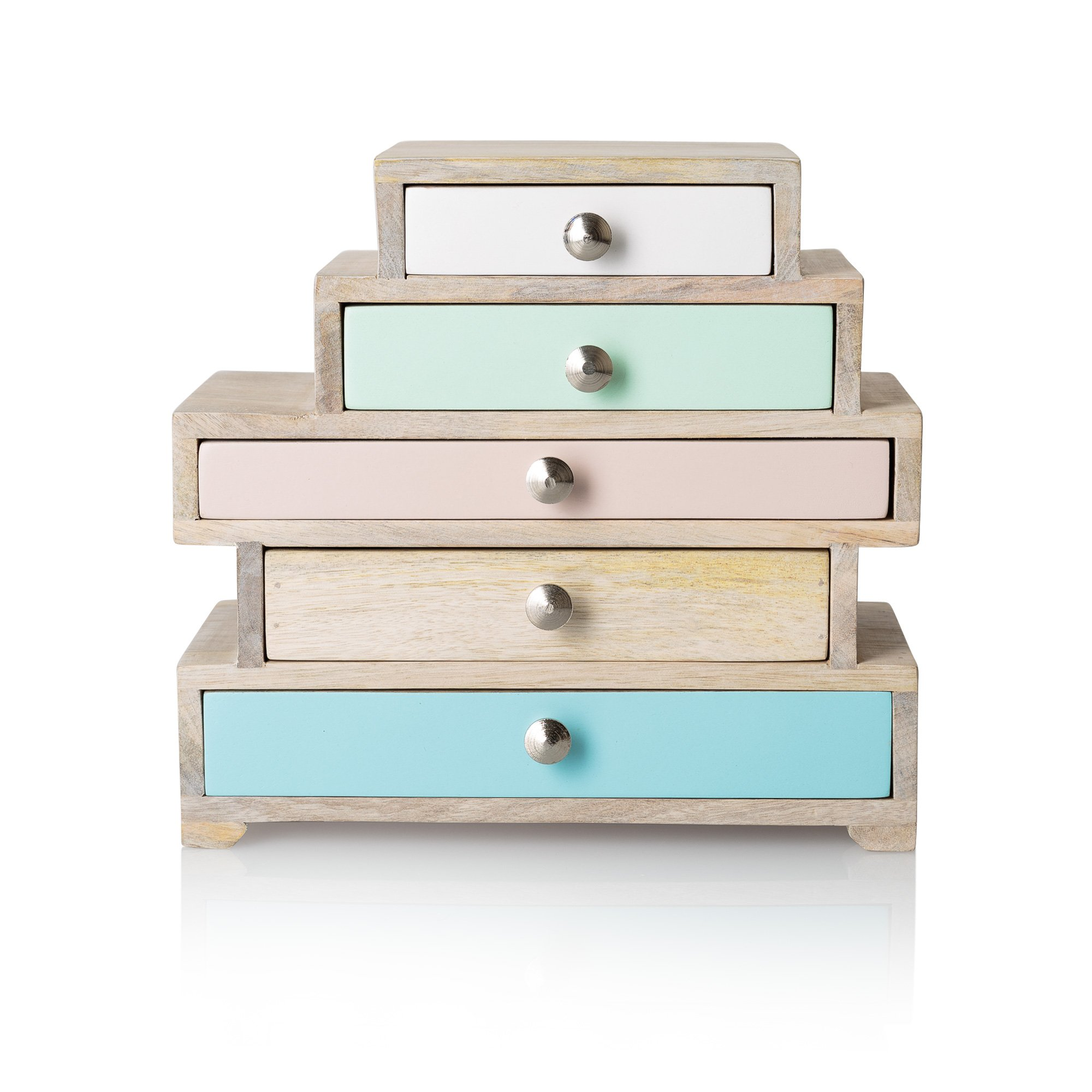 Eva Five Drawer Jewellery Box Oliver Bonas