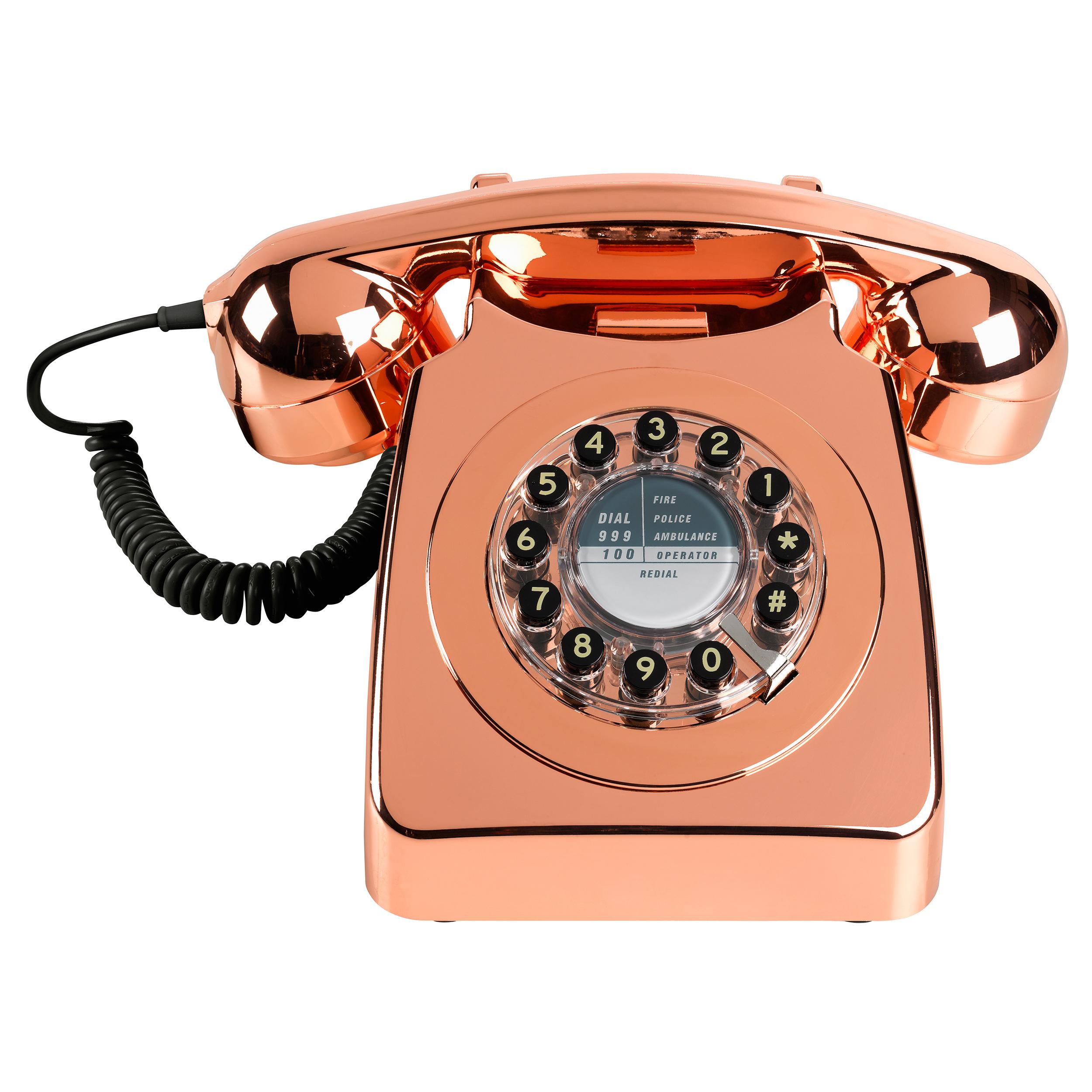 Metallic Copper Phone Oliver Bonas