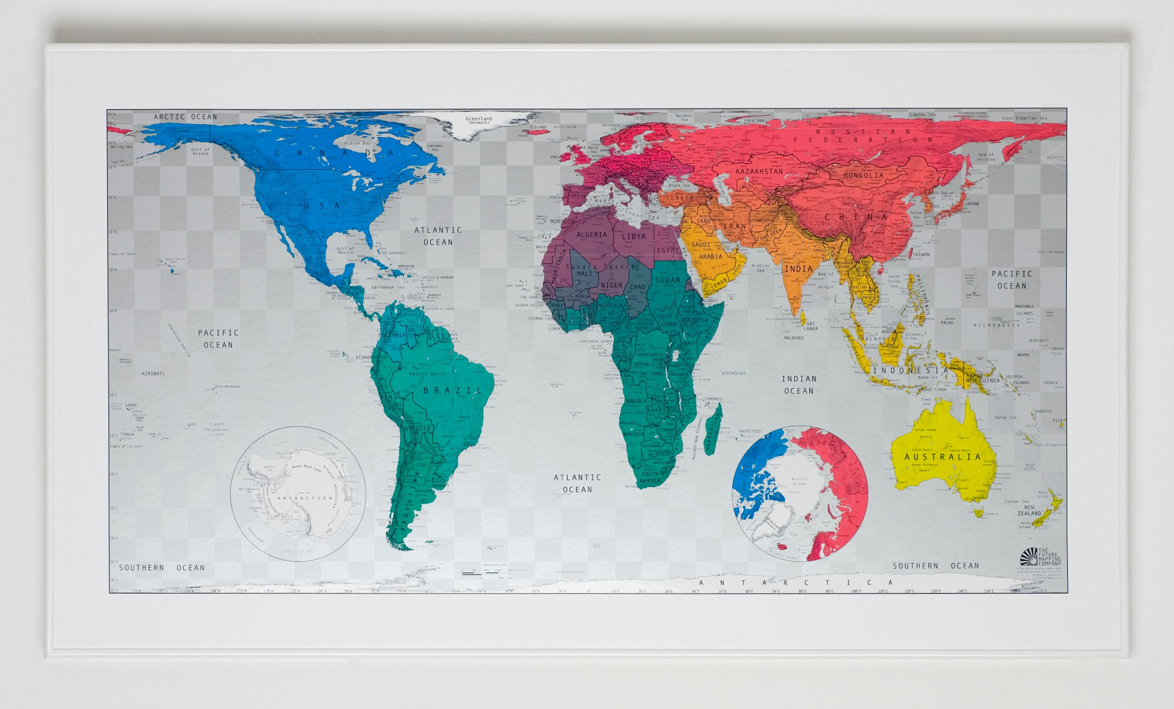 Magnetic world maps afp cv world magnetic map poli classic black wood frame 46x33in34500 gumiabroncs Images