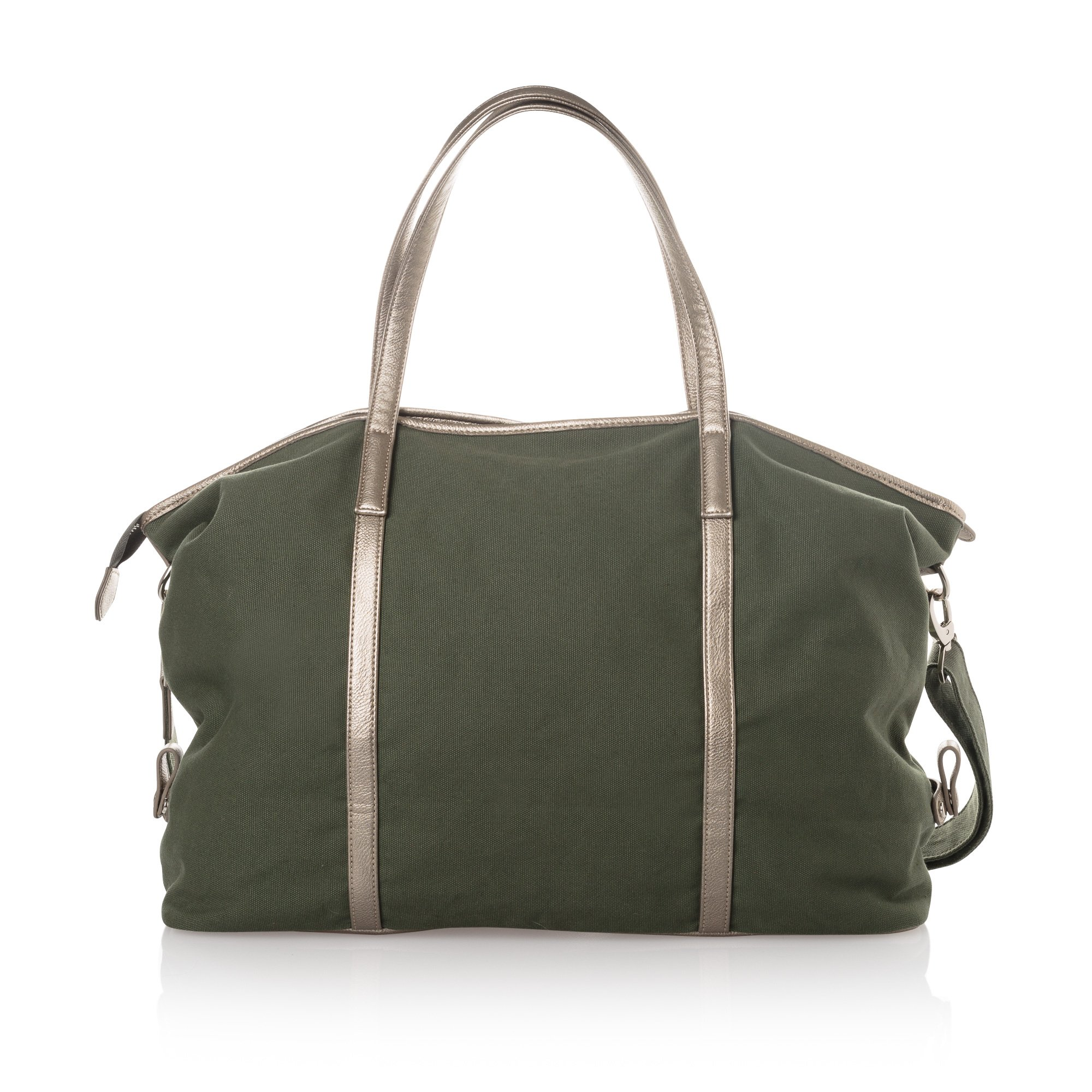 Green Olivia Overnight Canvas Weekend Bag | Oliver Bonas