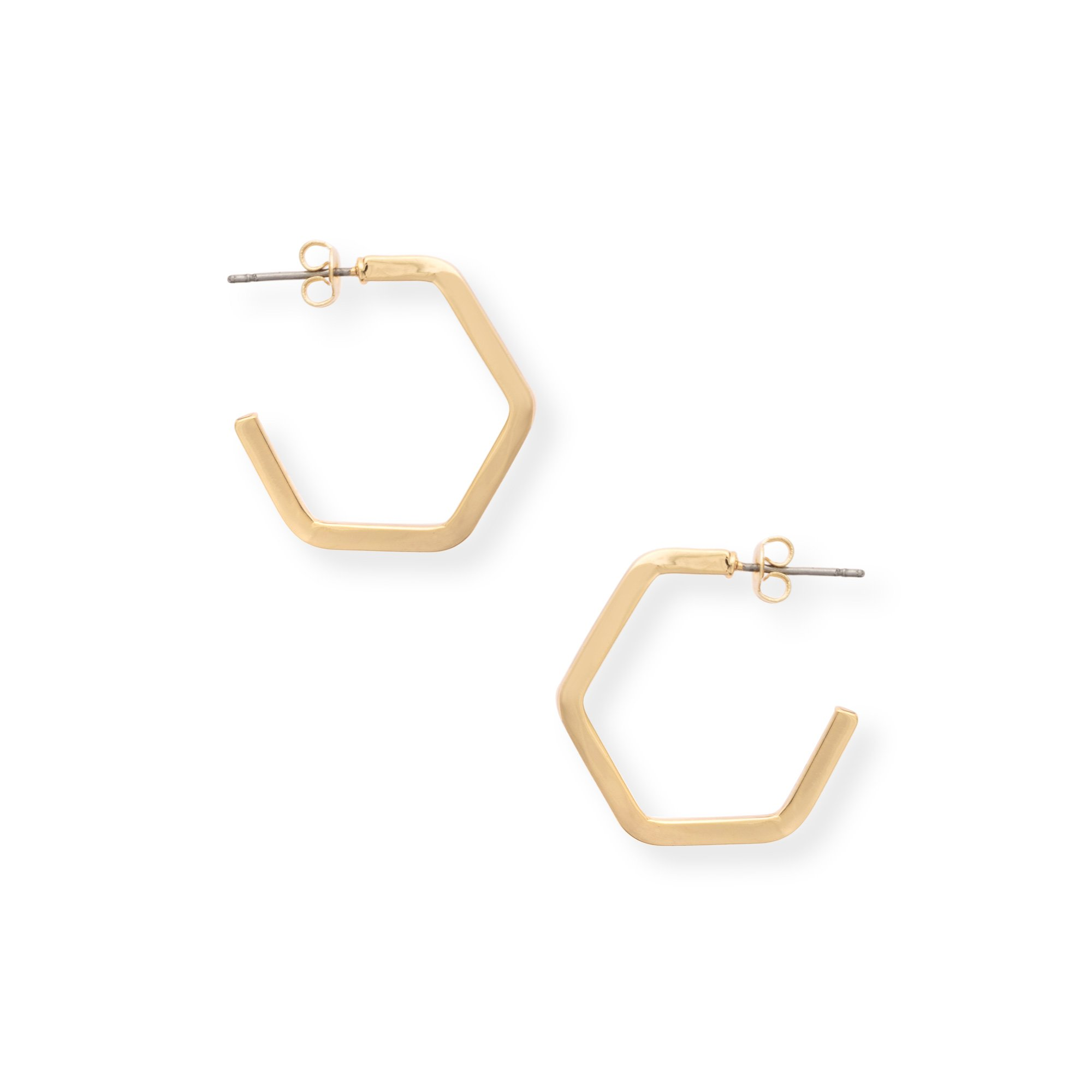 gold il hexagon chyg earrings geometric stud fullxfull dainty p tiny