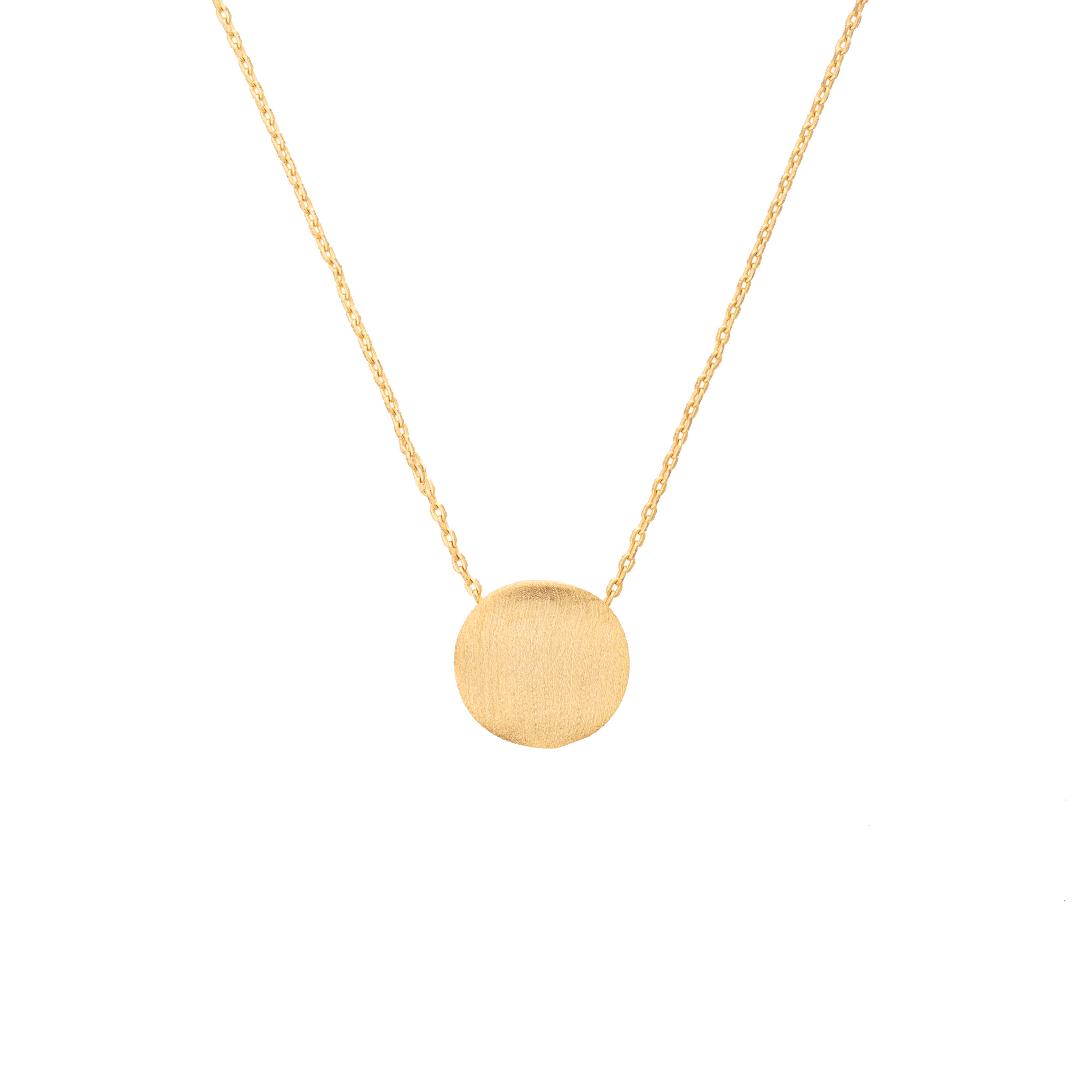 a engraved gold with auree necklace disc pendant rose initial jewellery westbourne disk