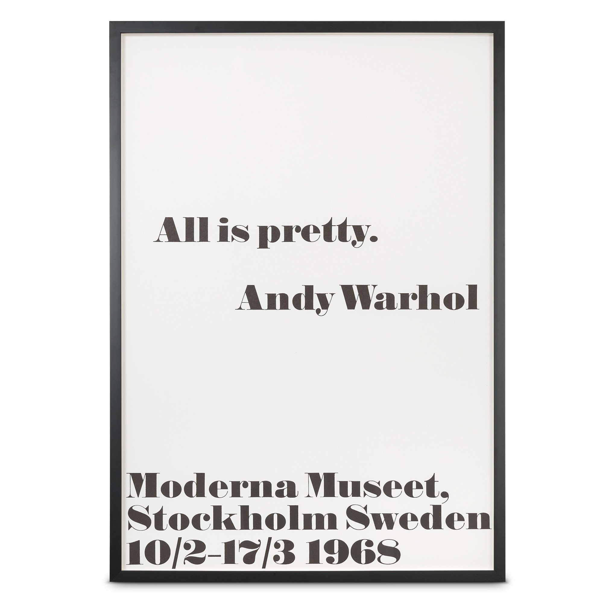 sc 1 st  Oliver Bonas & All Is Pretty 1968 Wall Art by Andy Warhol | Oliver Bonas