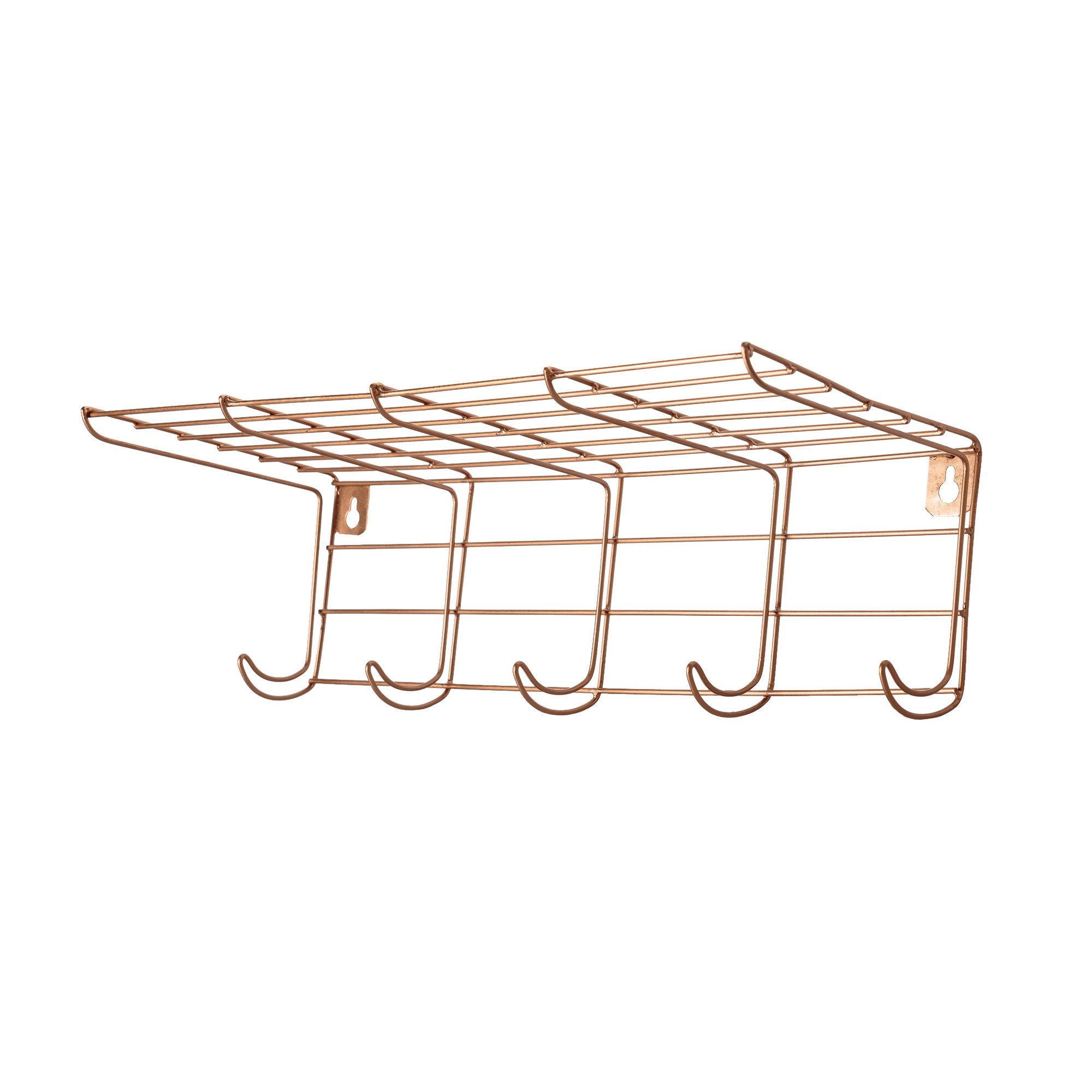 hat stand hooks rack shelf mounted wall products coat with rail spot eiche