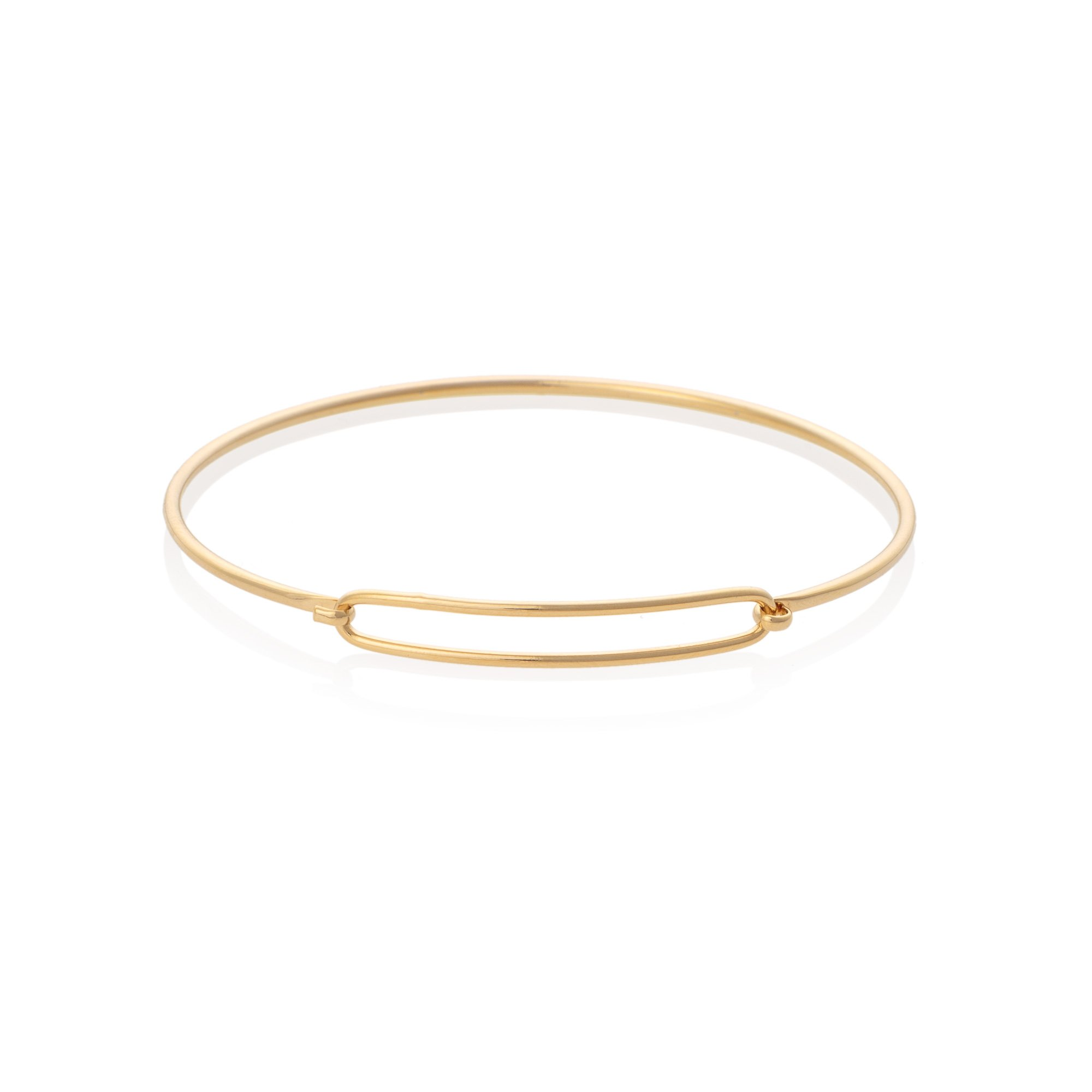Gold Outline Wire Hook Bracelet Oliver Bonas