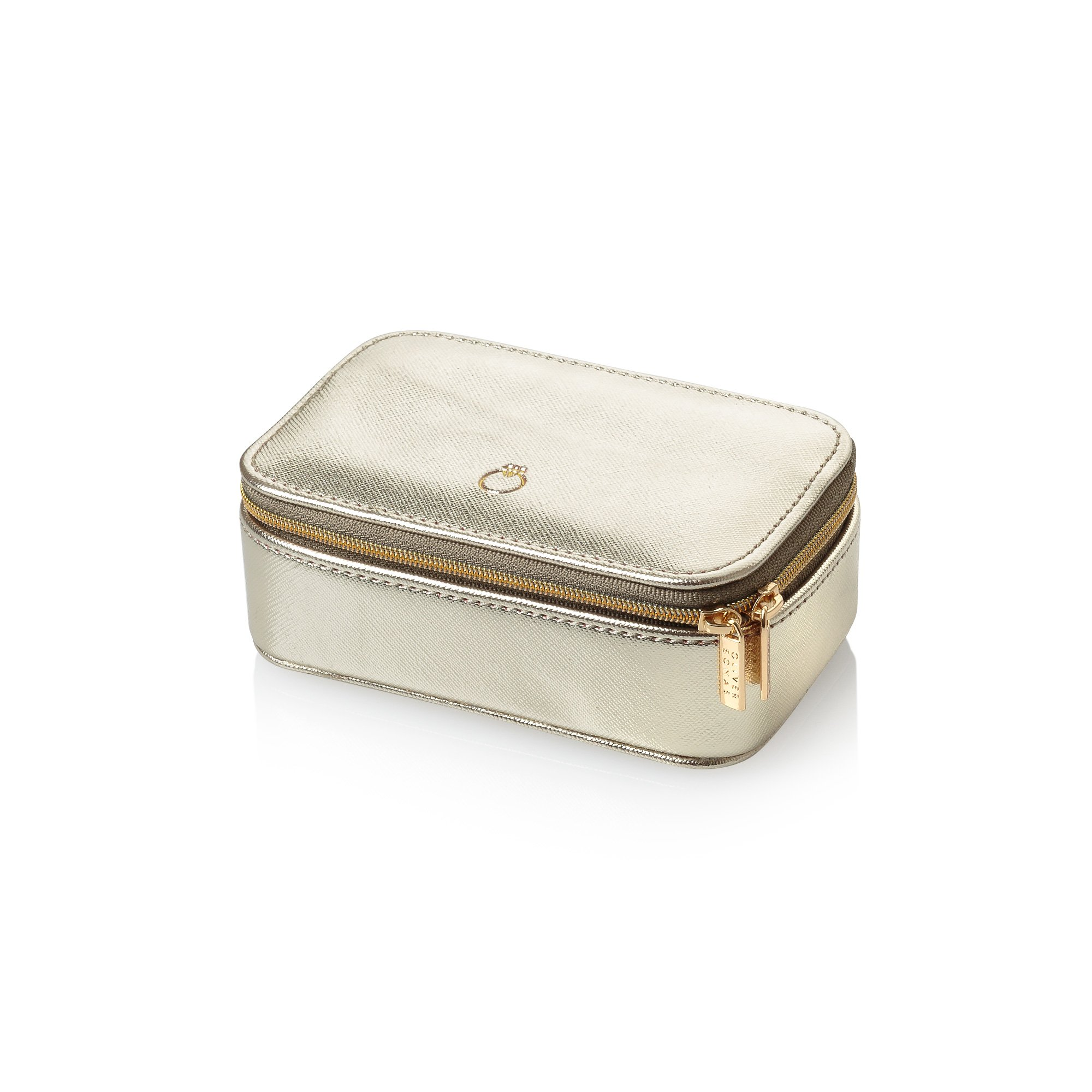 Small Travel Trailers Ultralight: Gold Amelia Small Travel Jewellery Box
