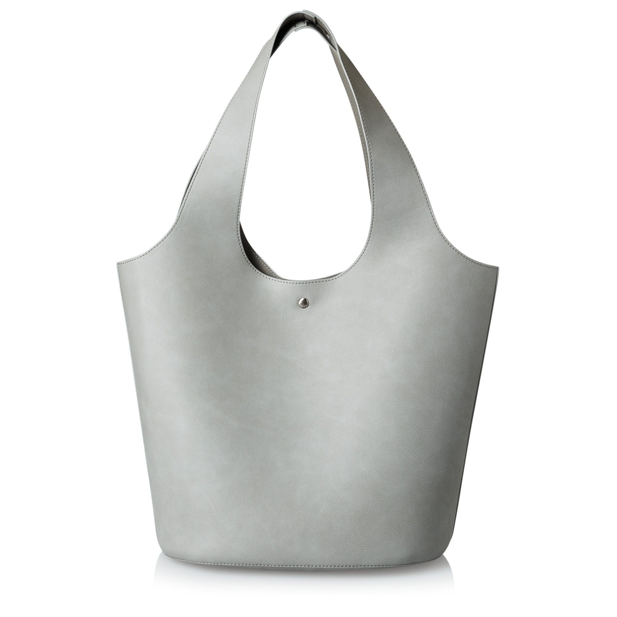 Grey Ruthie Oval Tote | Oliver Bonas
