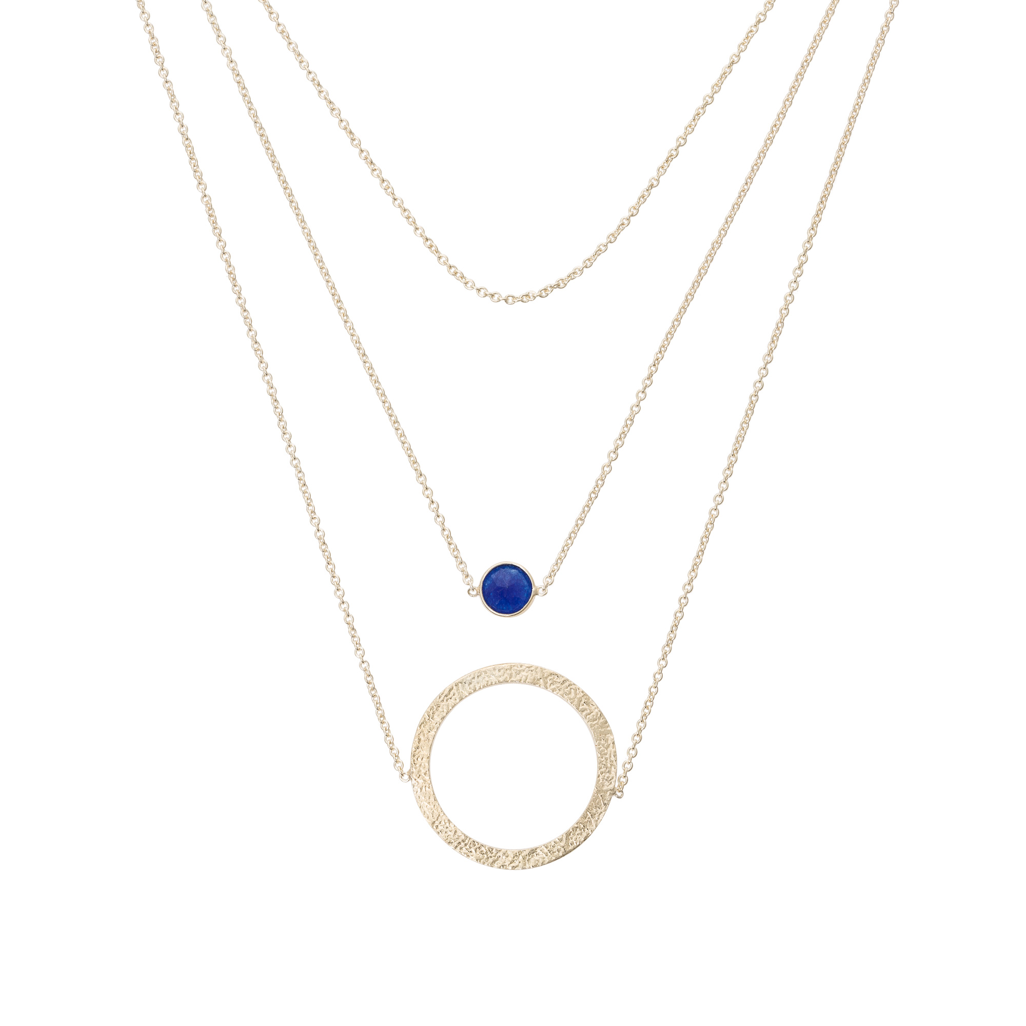 by metallic in schwartz multi abs jewelry allen necklace two gallery gunmetal lyst row tone gold