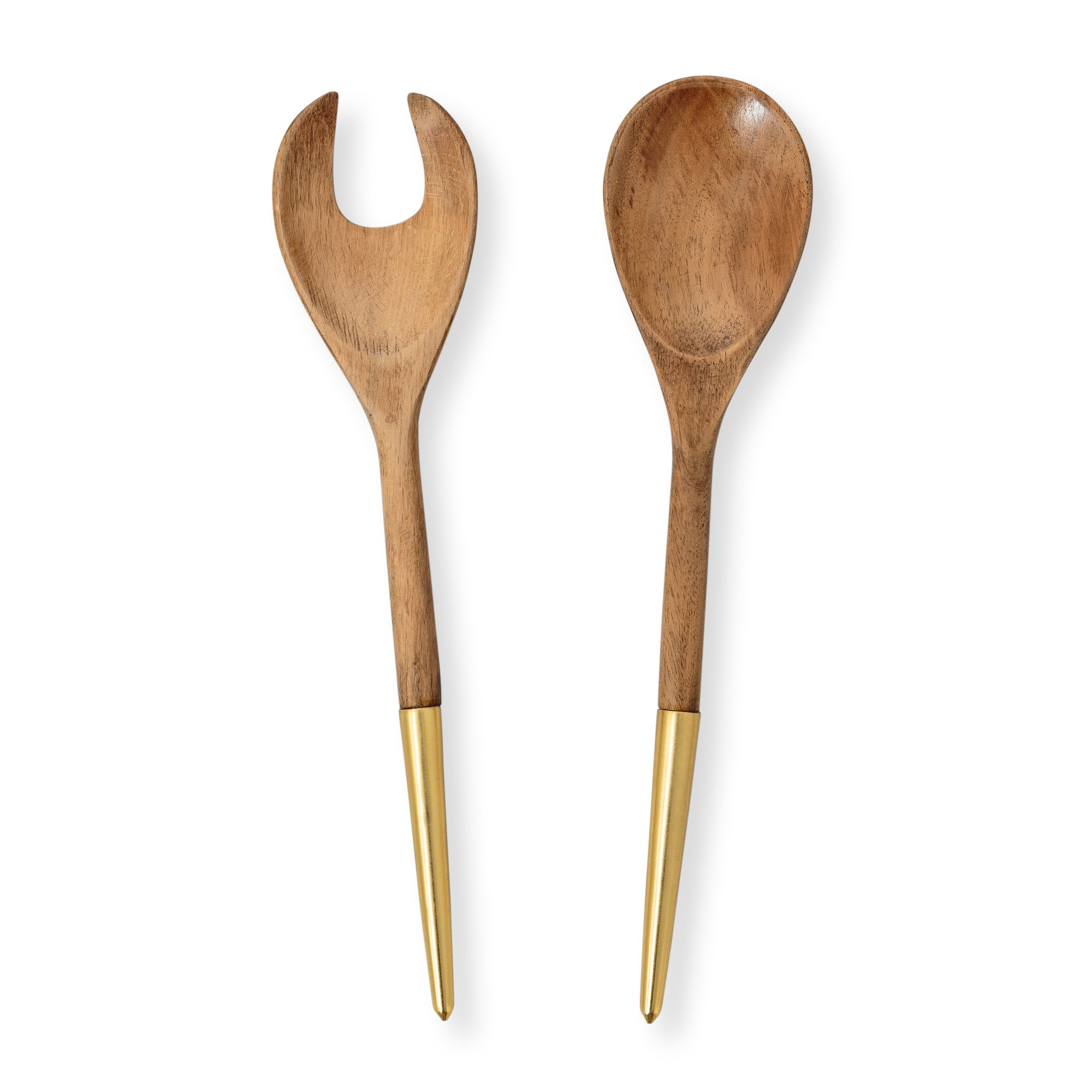 It sits in a blonde wood stand, and has matching wooden salad fork and spoon, along with 2 eight oz. cruets with corks, for holding oil and vinegar, or two of your choice of salad dressings. Whether you're entertaining friends or just having a family meal, this serving set adds simple elegance to your table setting.