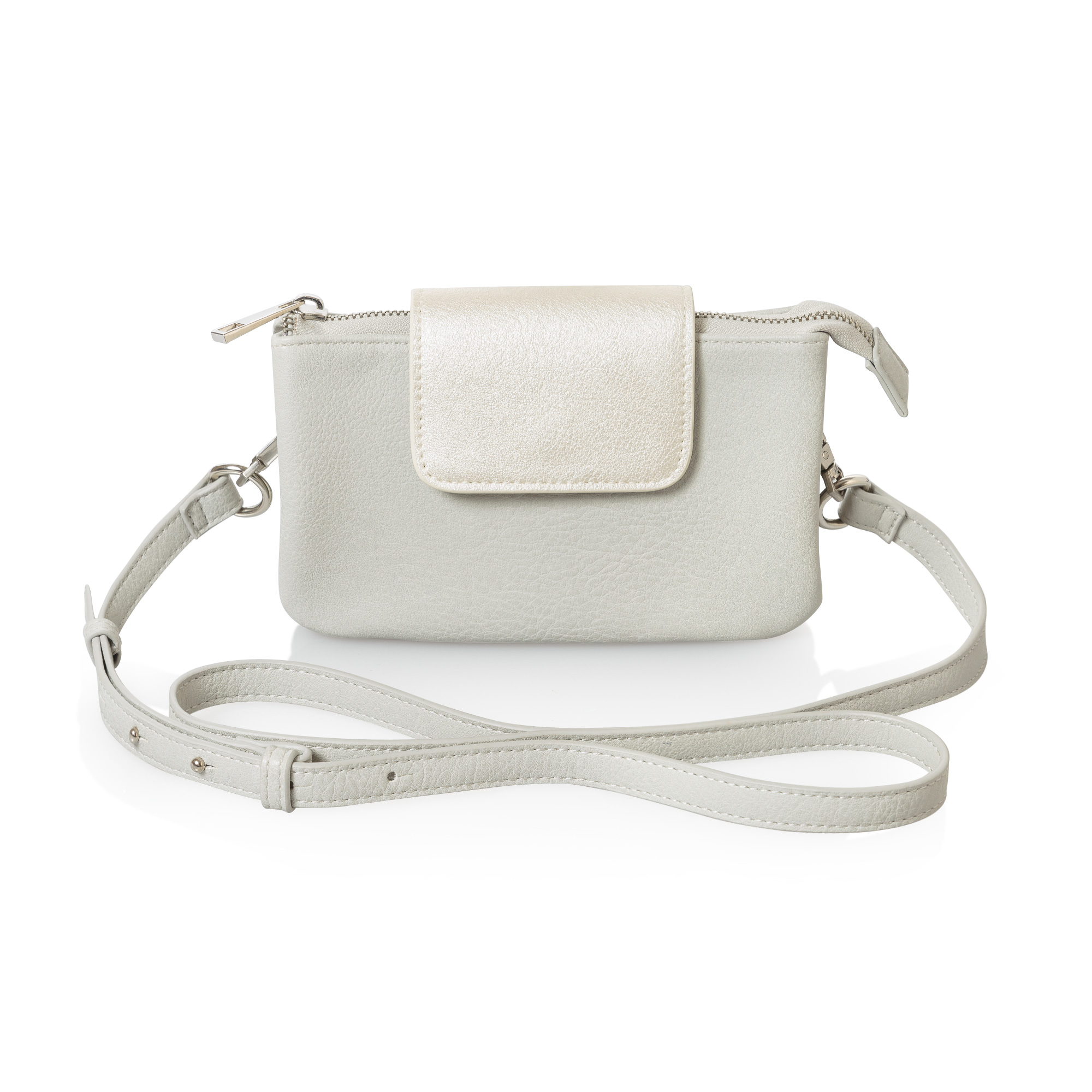 Silver Leather Tote Bag Uk - Helice functional cross body bag