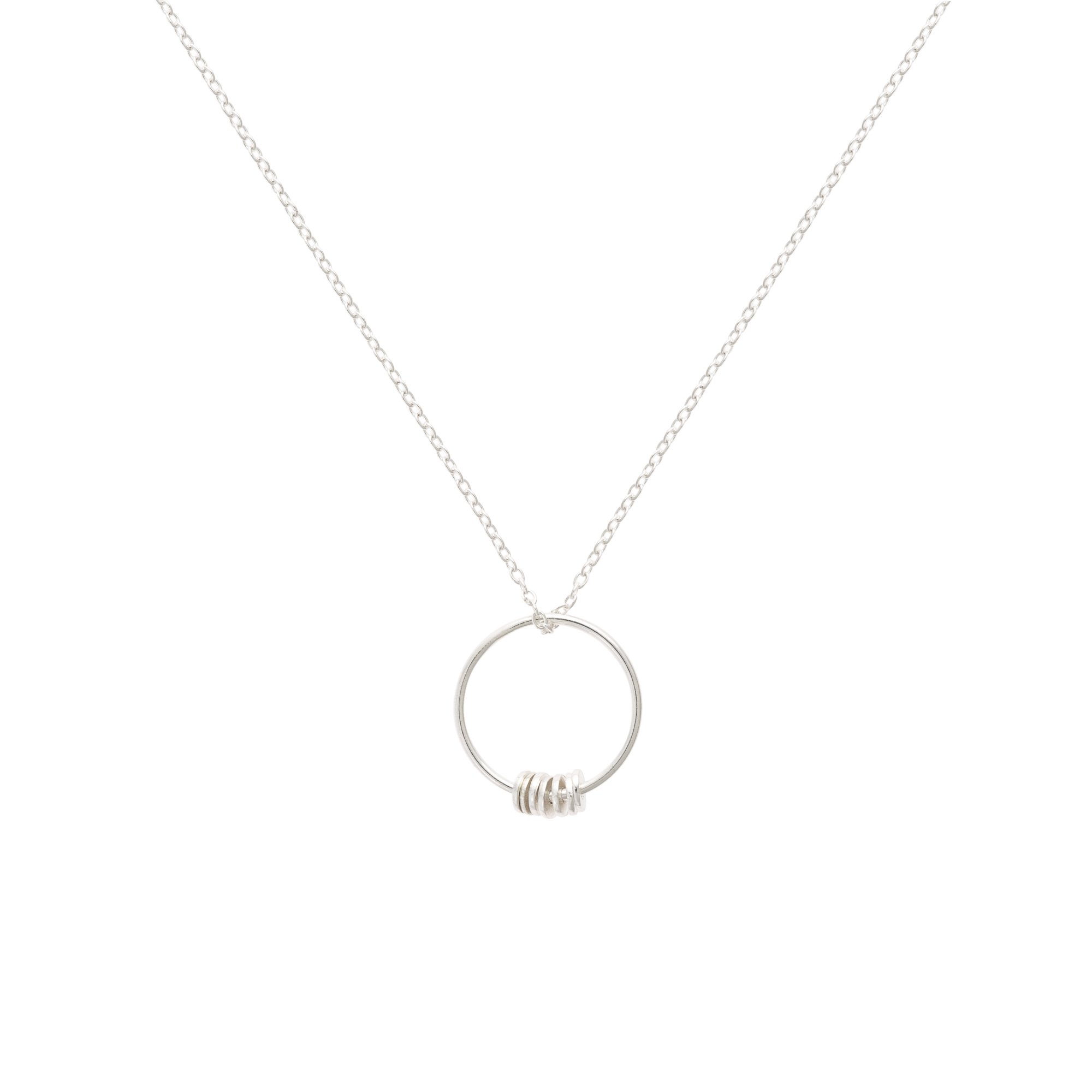 decjuba disc rosegold products necklace punched fine
