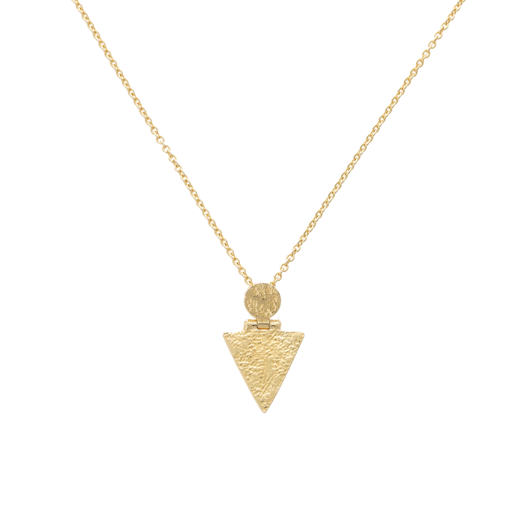 Necklaces pendants oliver bonas zosk circle triangle pendant necklace aloadofball Image collections