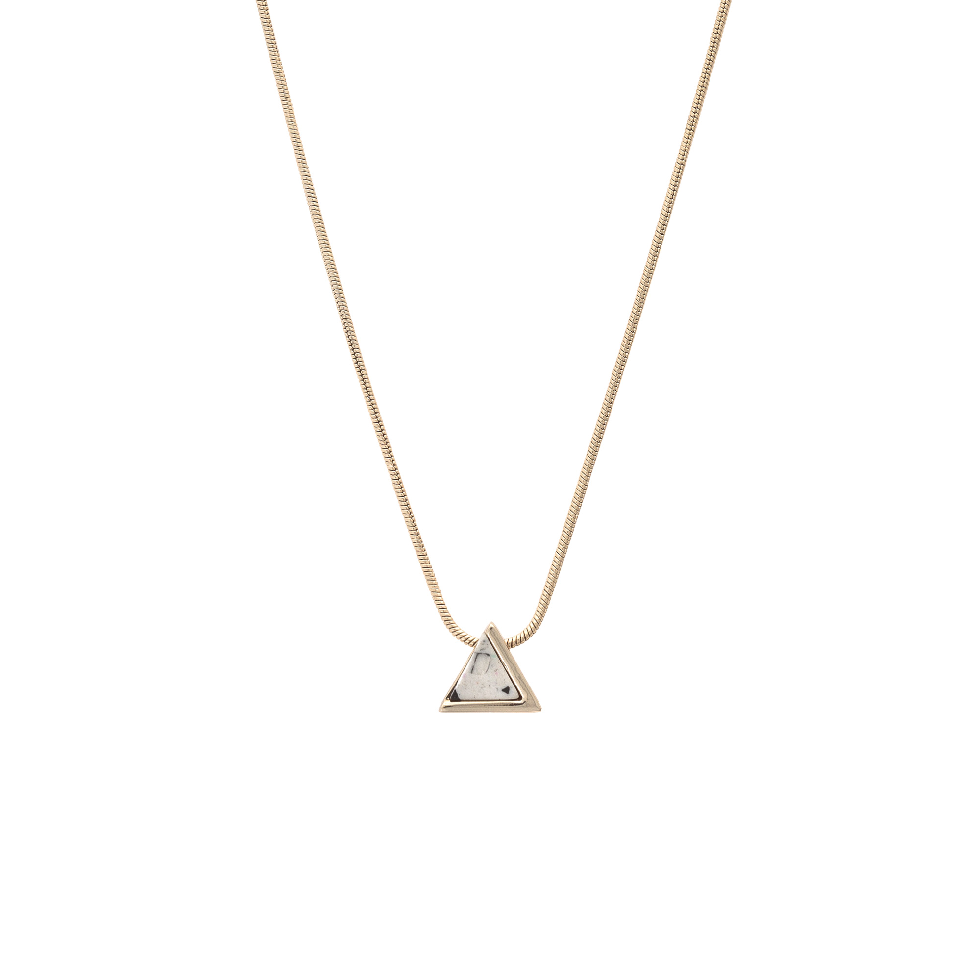metal with steel horse strap hs necklace triangular products anju stainless n running pewter mixed etching gld reverie leather pendant en