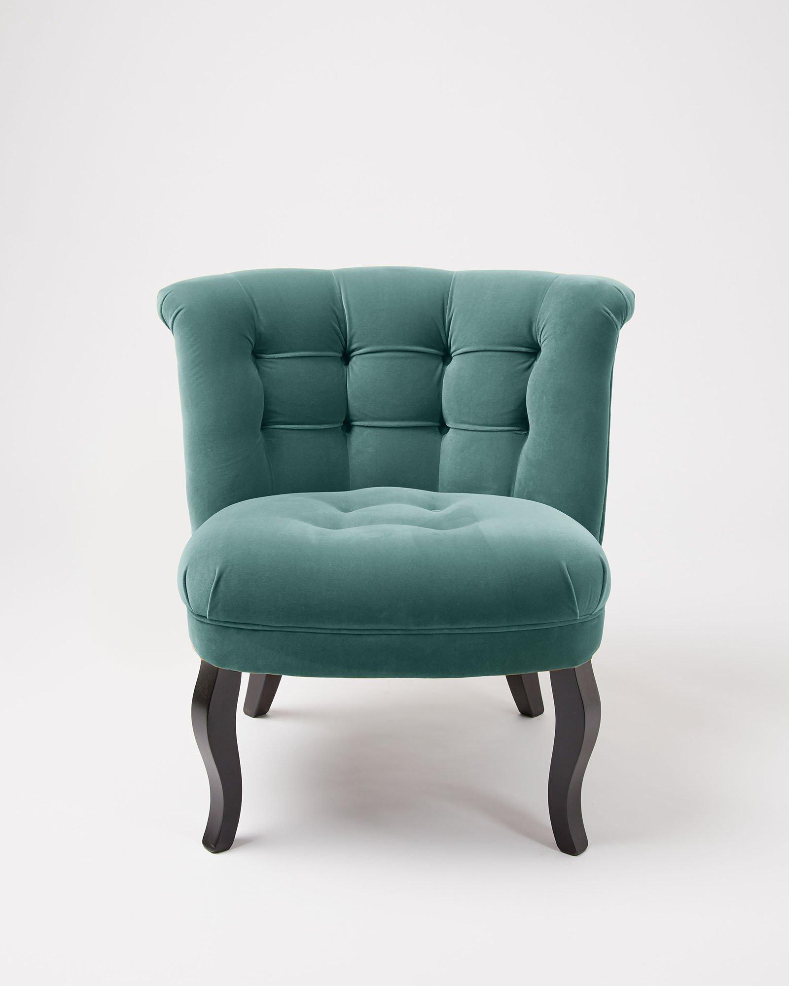 Velvet Duck Egg Blue Tub Chair