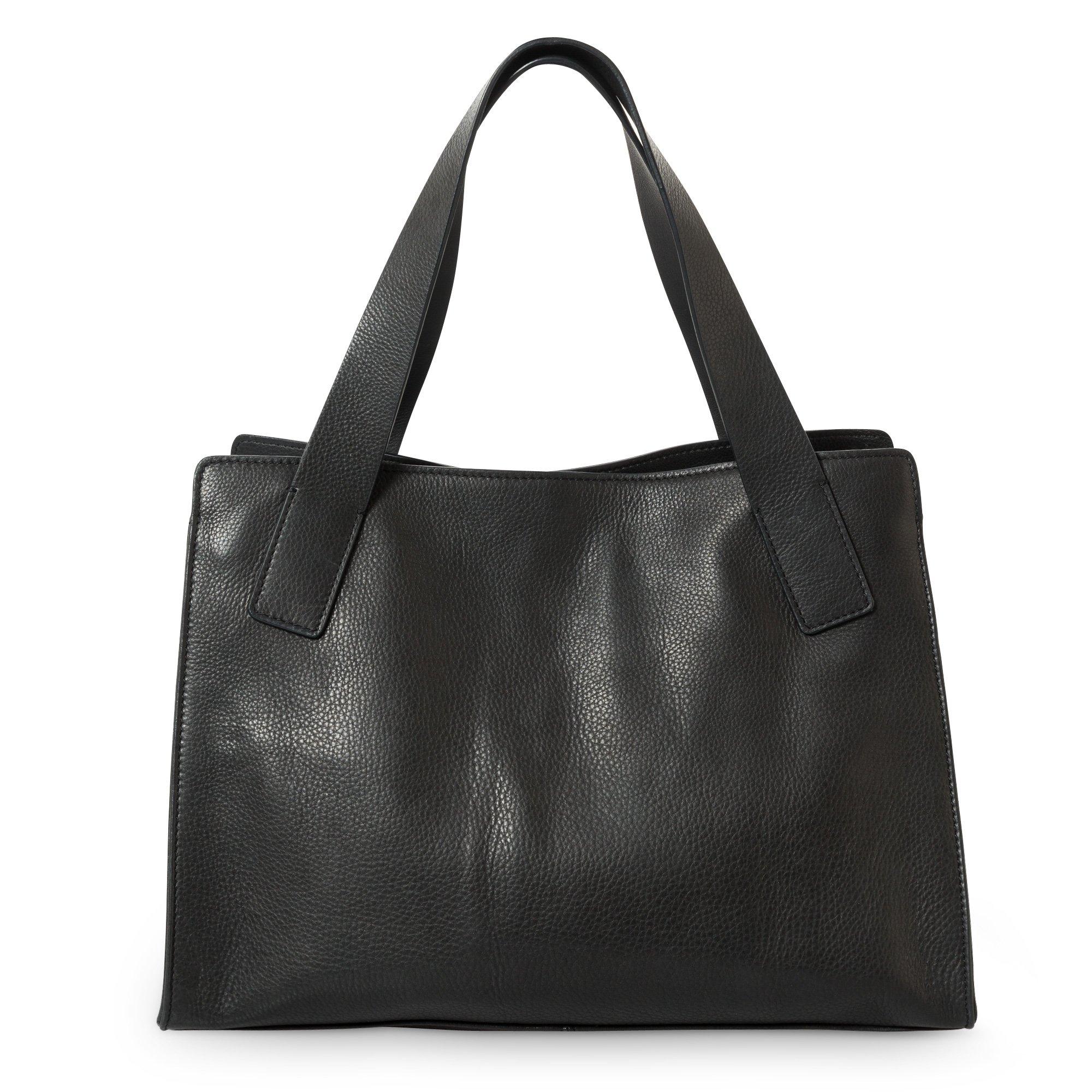 759974080c Best Black Esme Medium Leather Tote Bag | Oliver Bonas NJ14