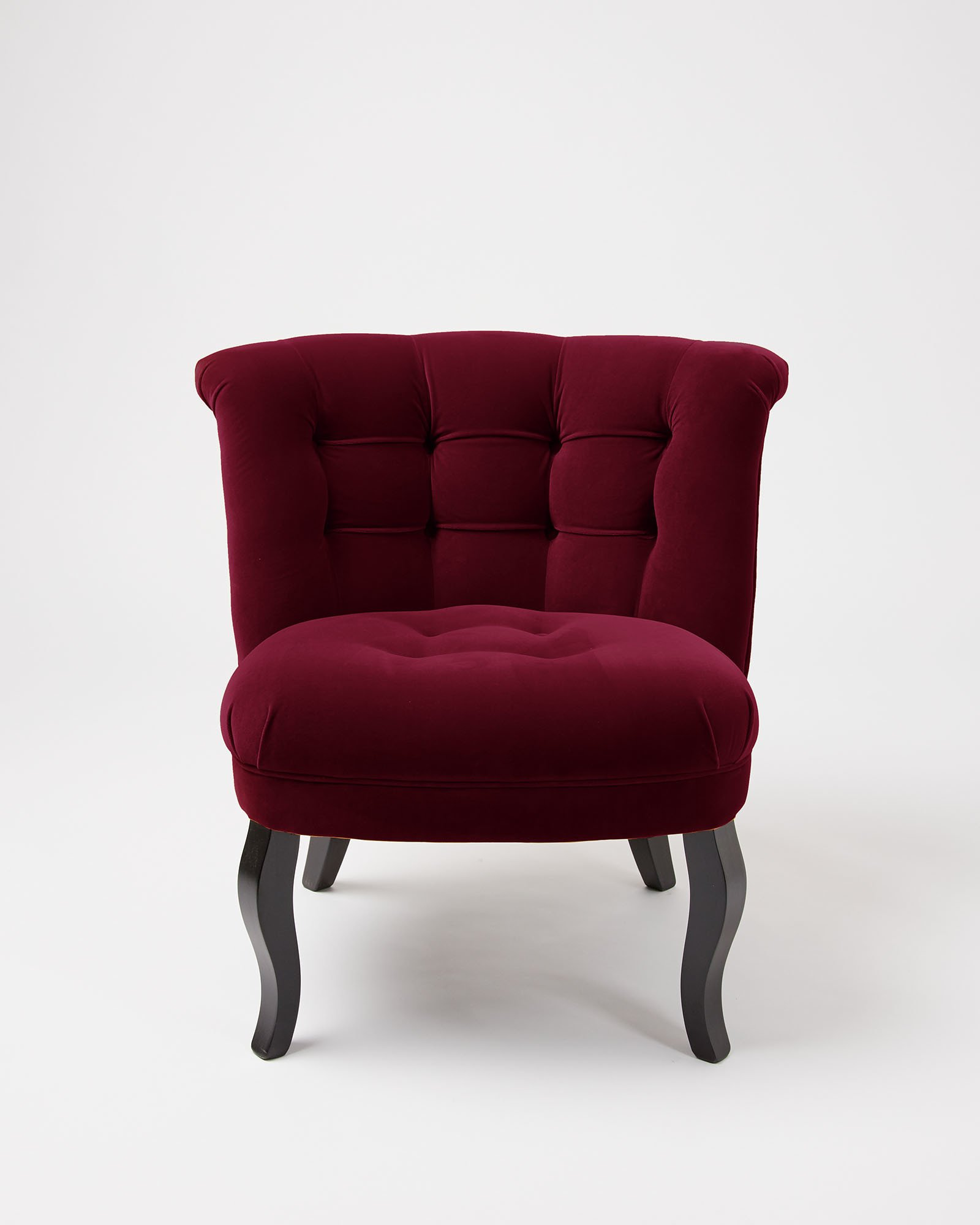 Velvet Mulberry Red Tub Chair