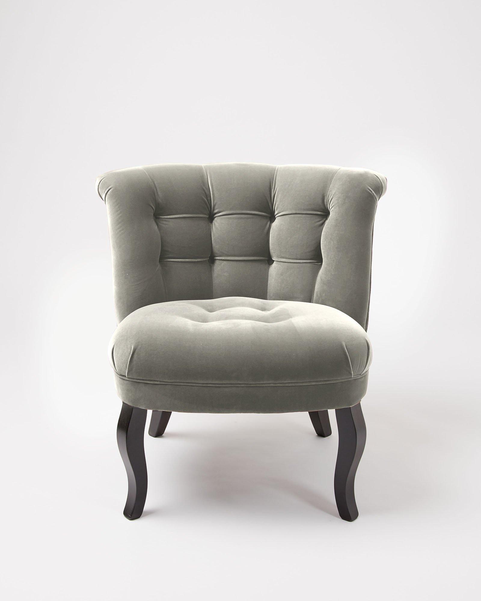 Velvet Dove Brown Tub Chair