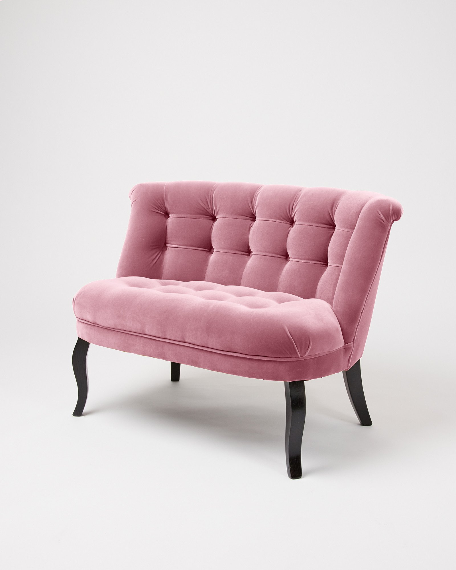 Velvet Pale Rose Pink Loveseat