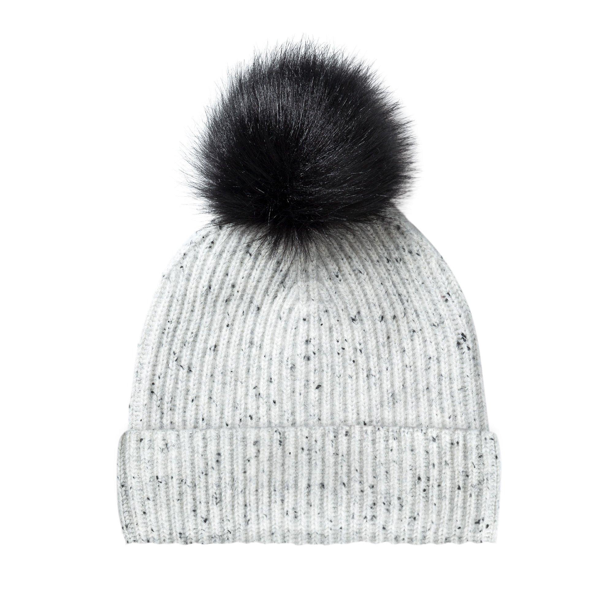 570551b0cbf Cashmere Turn Up Pom Pom Hat
