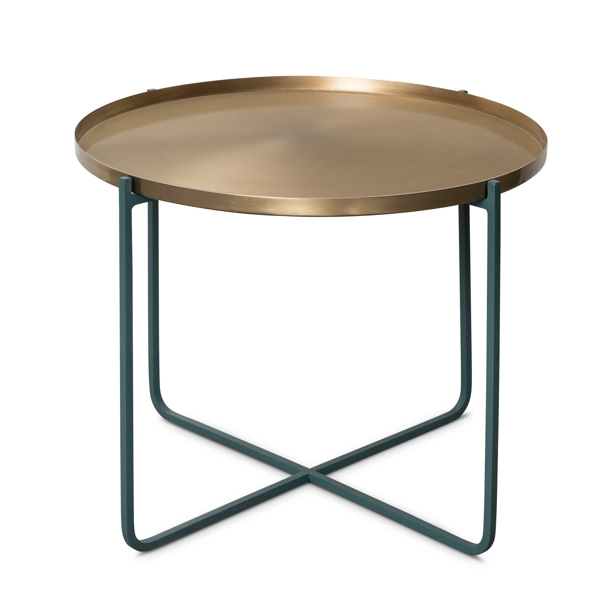 Green Iggy Metal Tray Side Table Oliver Bonas