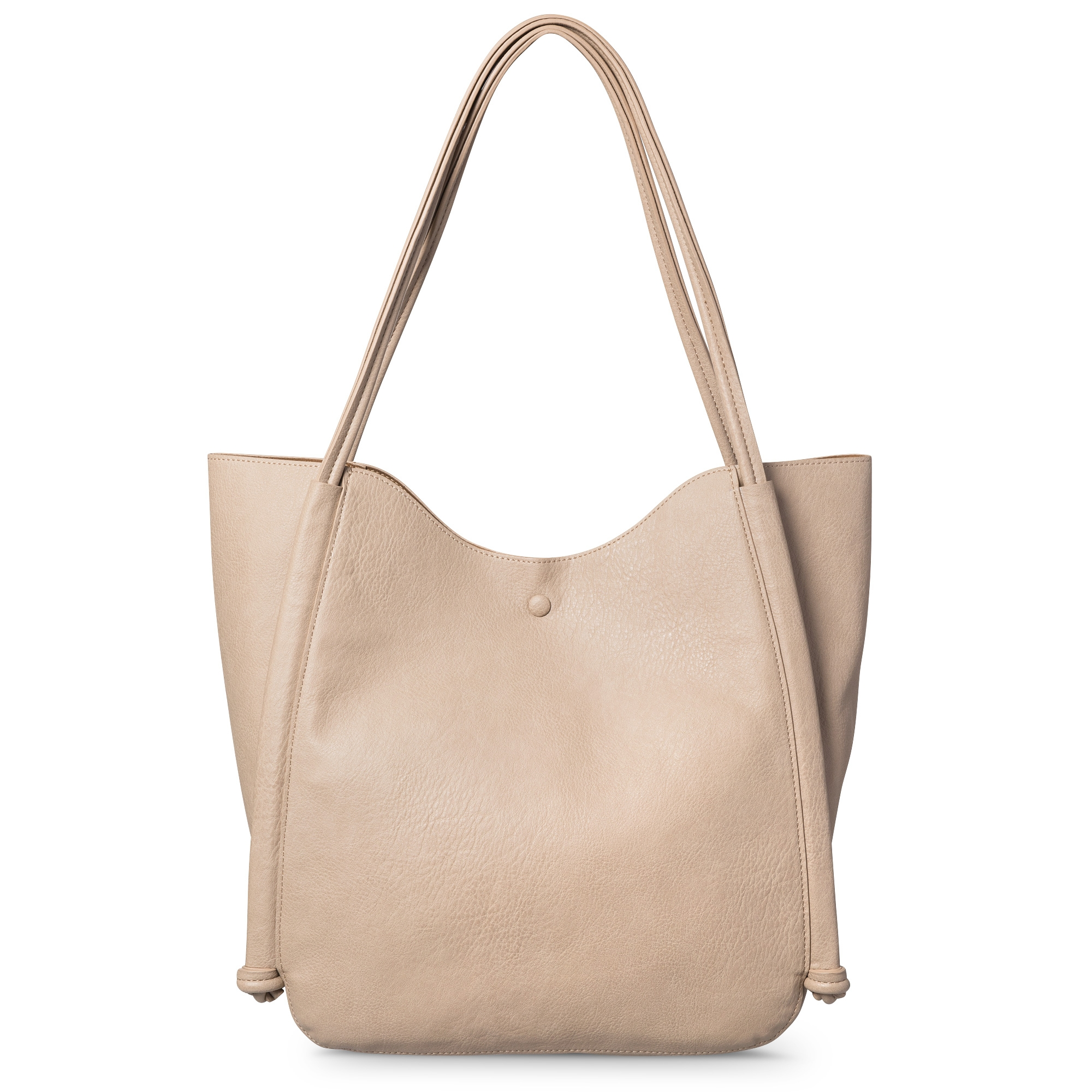 Silver leather tote bag uk - Marlin Knot Handle Tote Bag