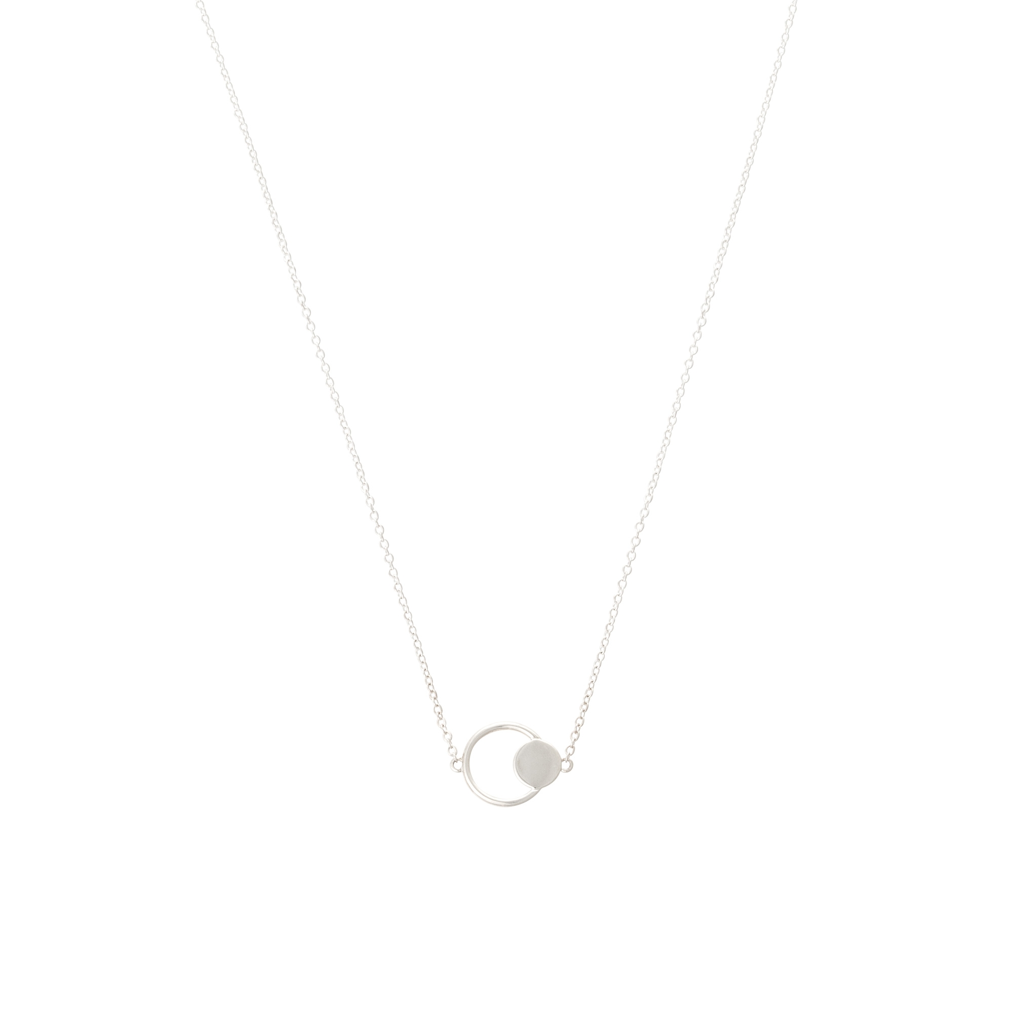 Eclipse double circle silver necklace oliver bonas aloadofball Images