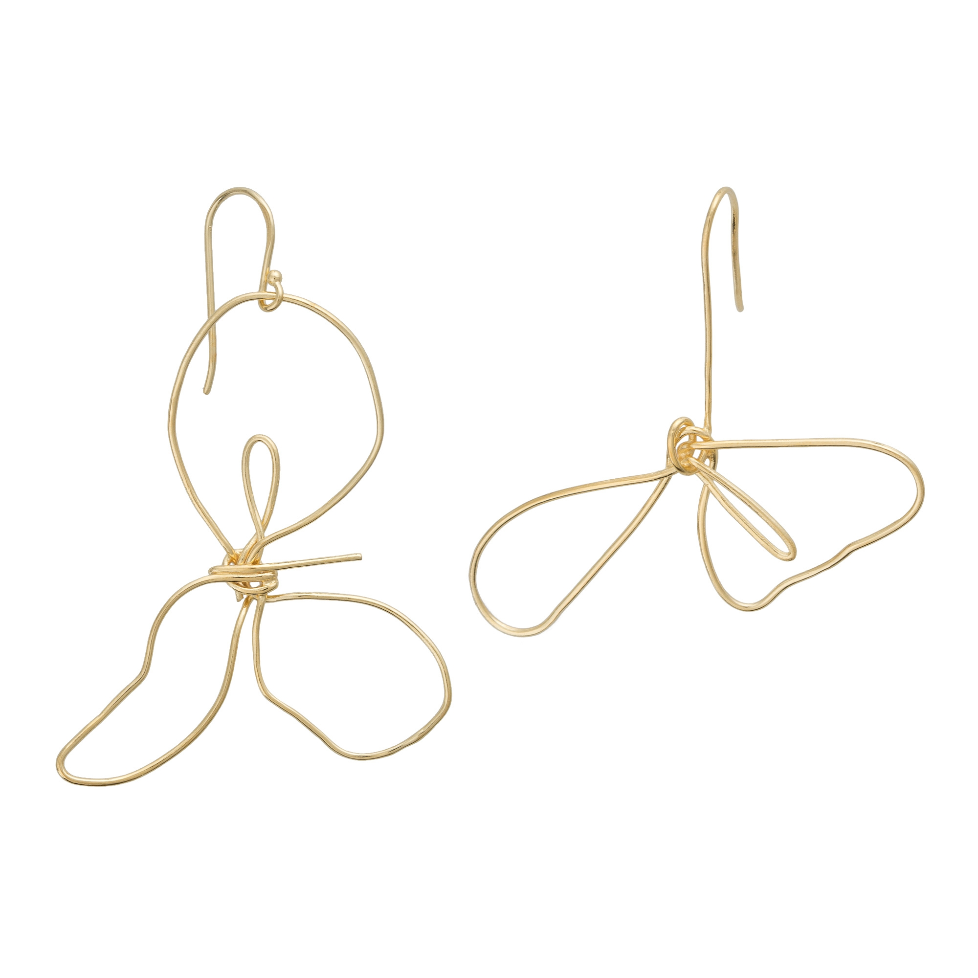 outline asymmetric store products pk earrings sapphireonline gold