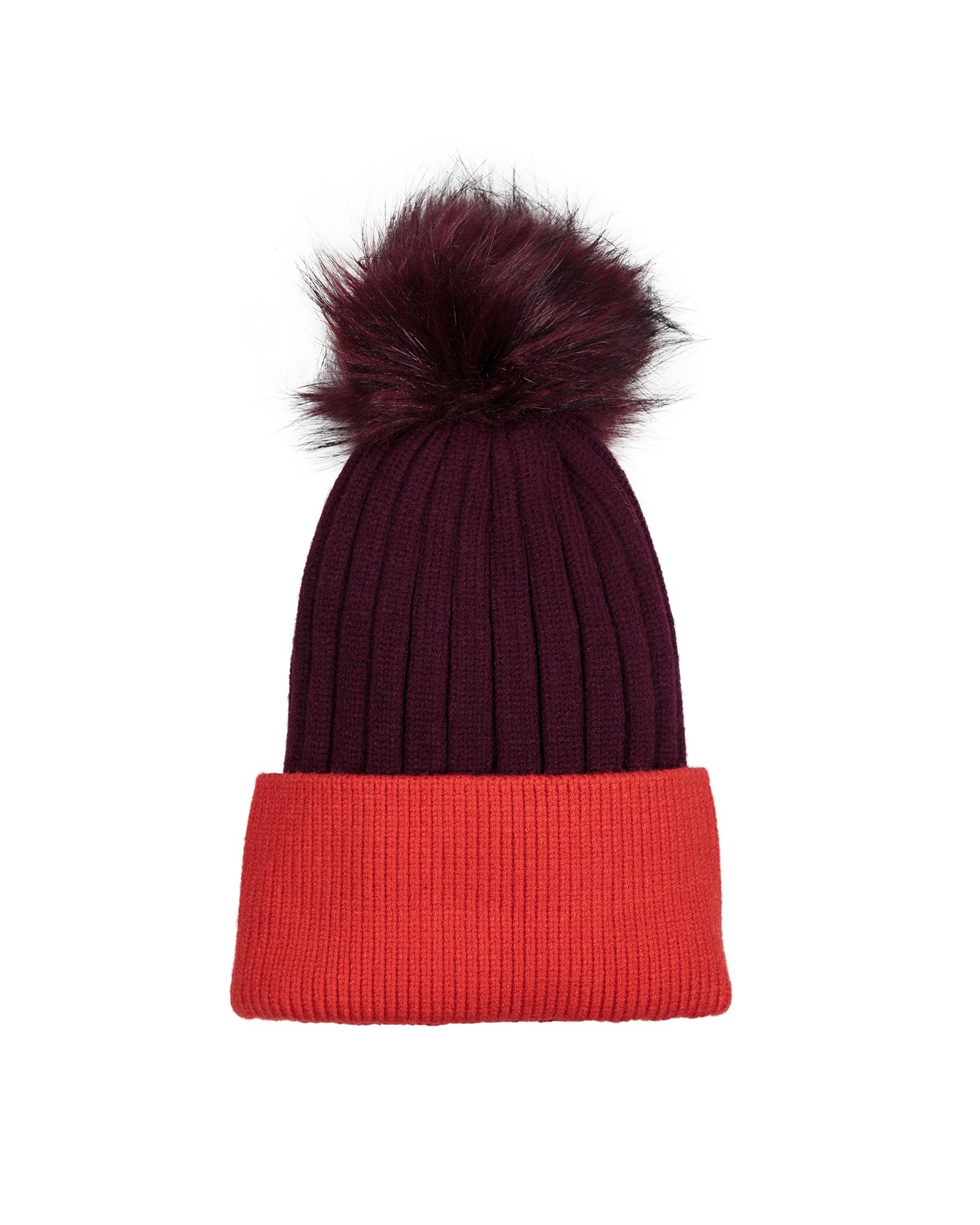 4efaf4db7 Color Block Red Beanie Hat