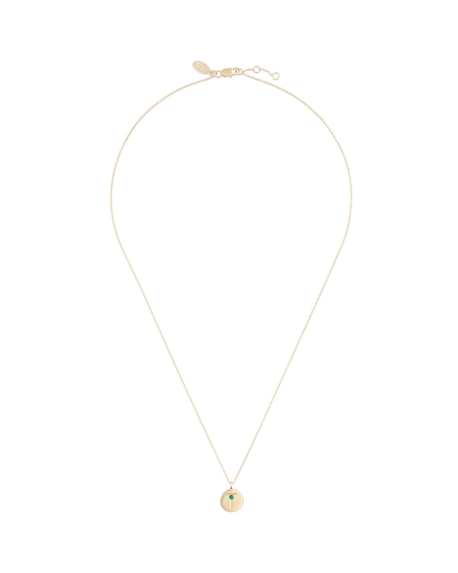 Oliver bonas mujeres alfabeto Disco Collar Colgante de oro plateado