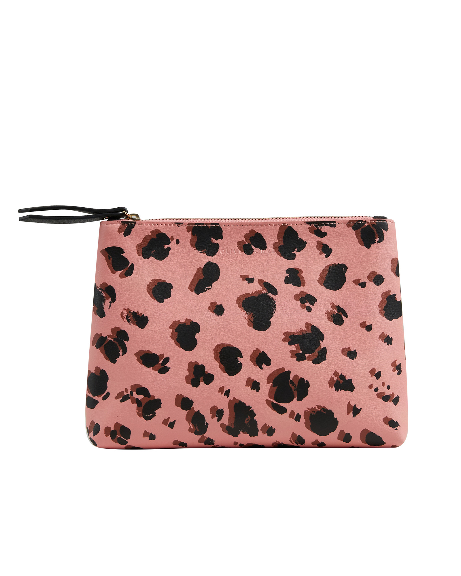 Snow Leopard Pink Zipped Pouch