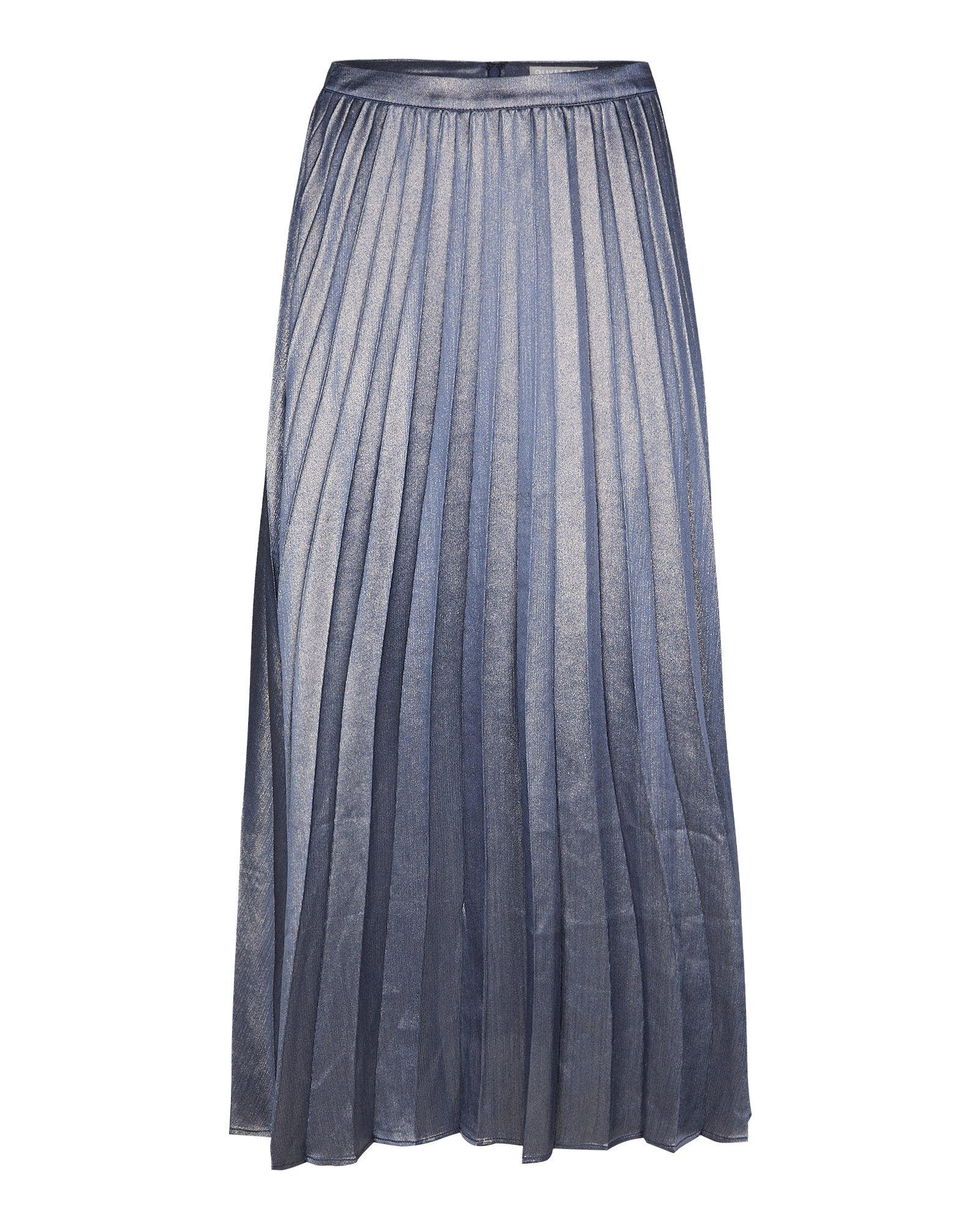 Sparkle Blue Pleated Midi Skirt