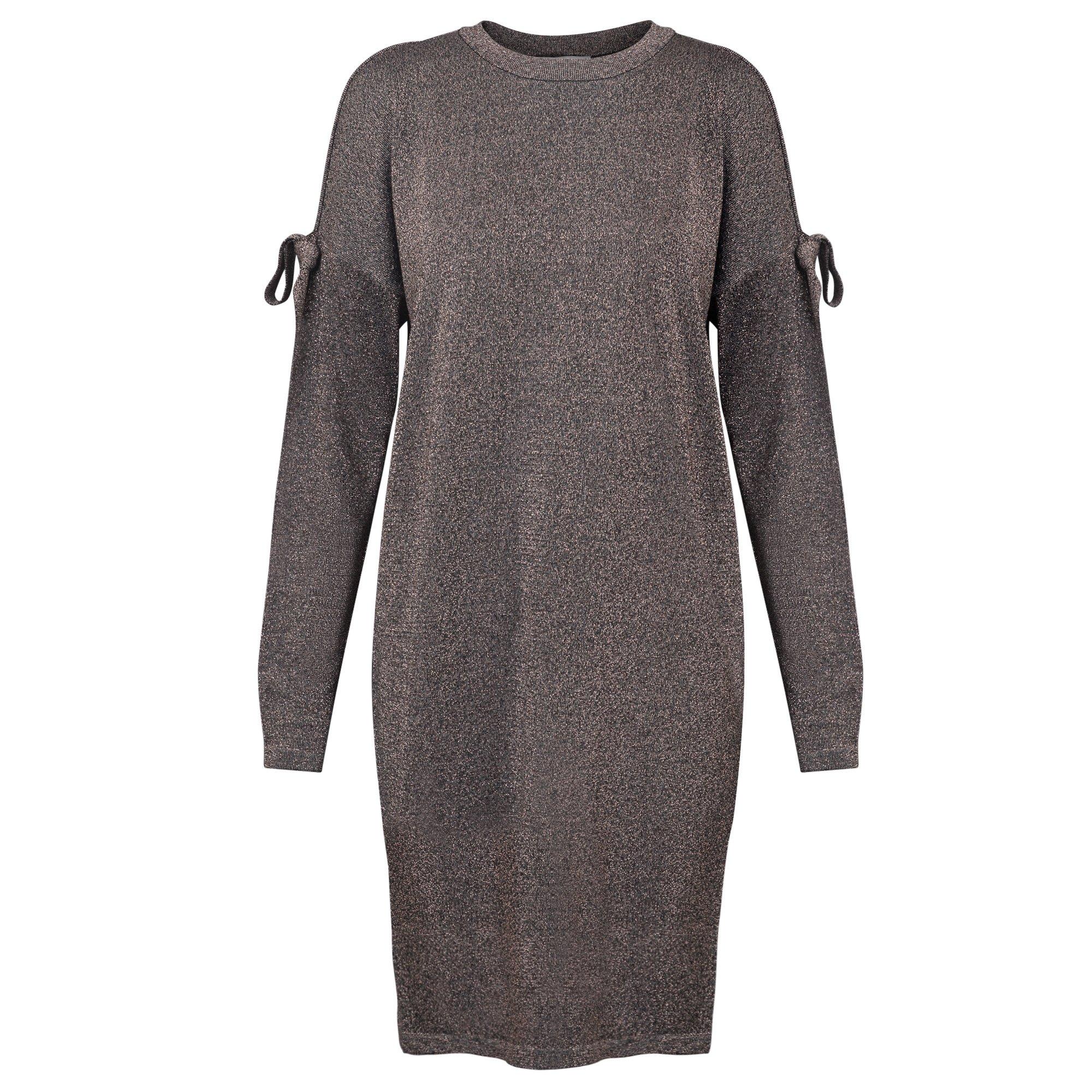 Oliver Bonas Dash Sparkle Tie Sleeve Knitted Dress, size 14