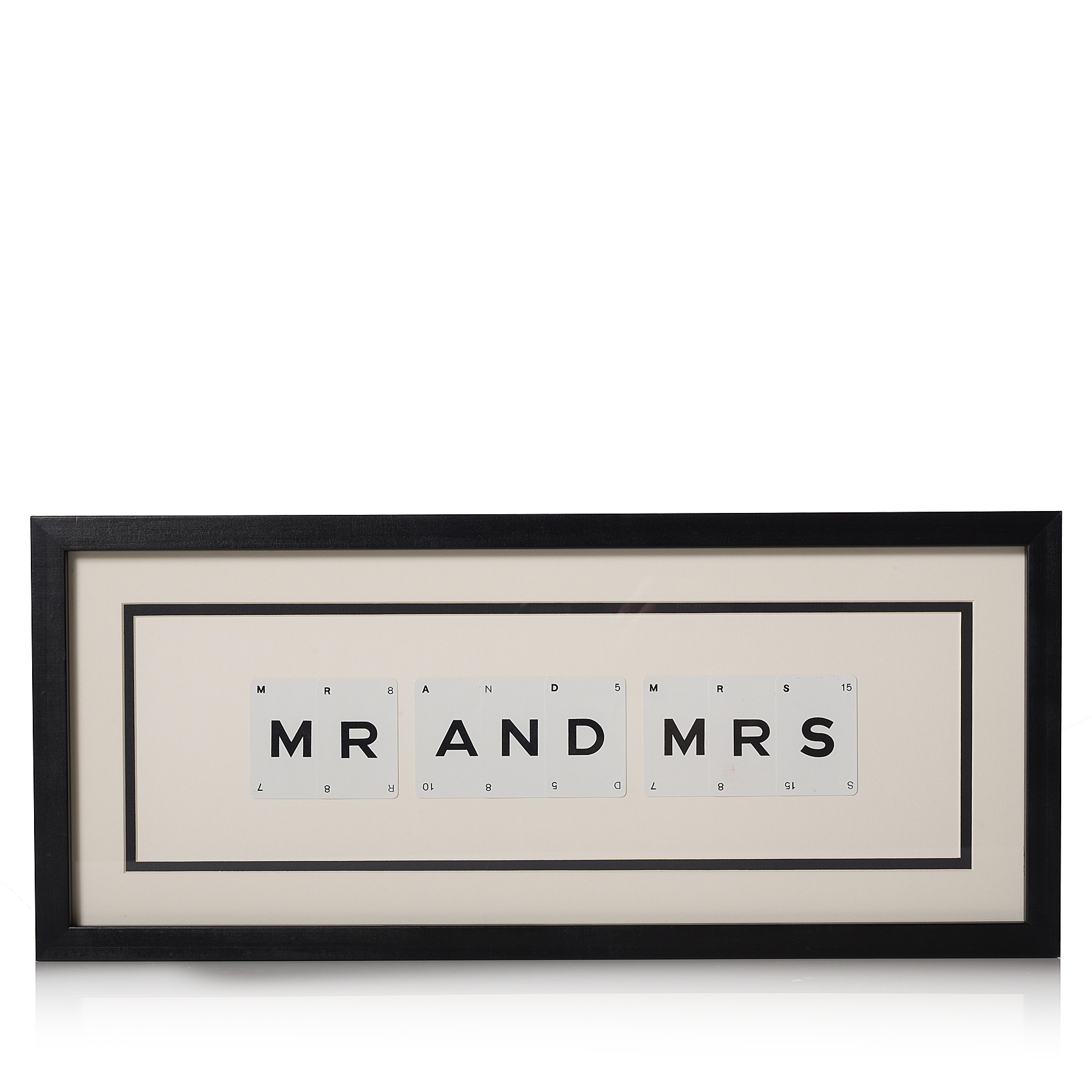 vintage playing cards mr mrs frame oliver bonas - Mr And Mrs Frame
