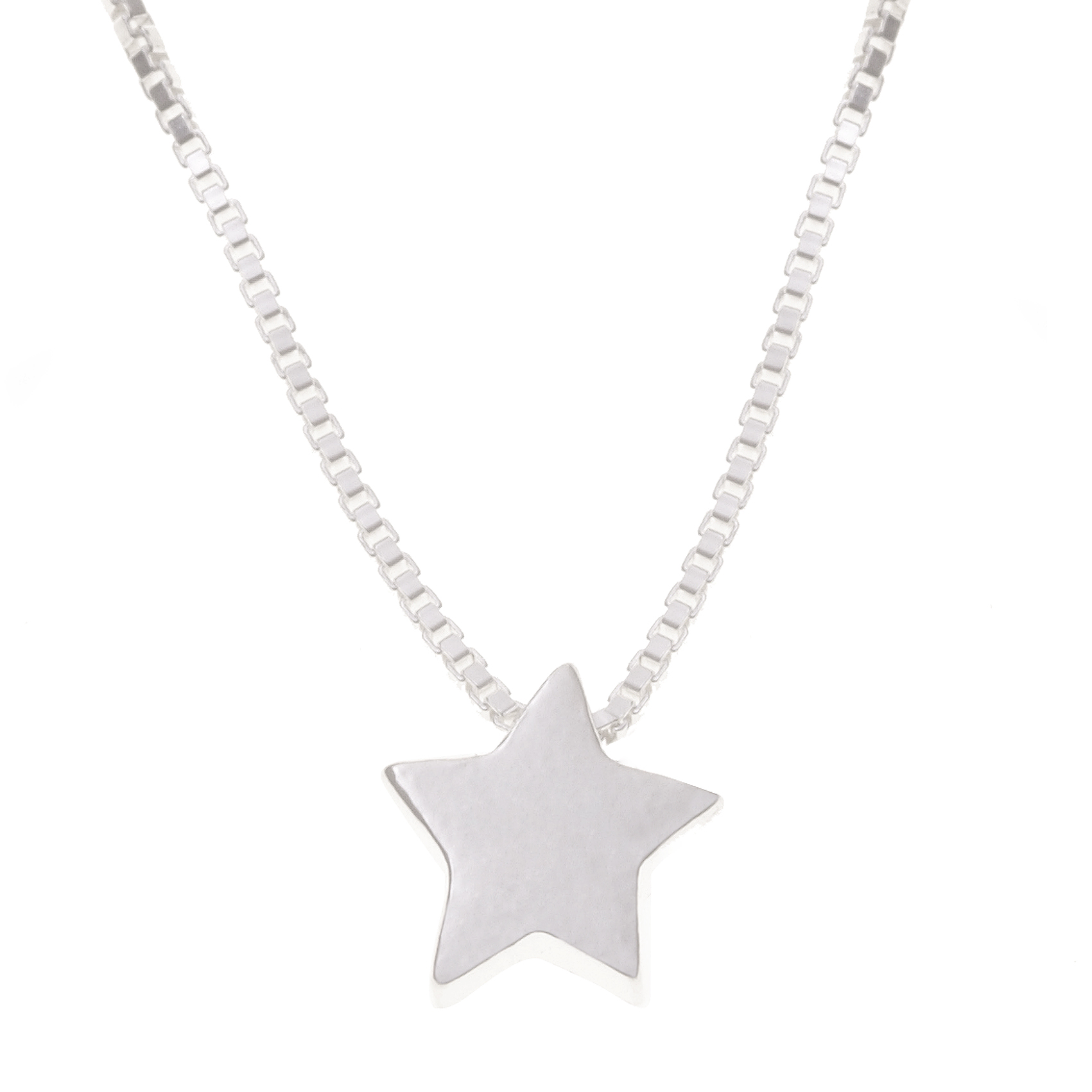 star oliver jewellery necklace silver bonas