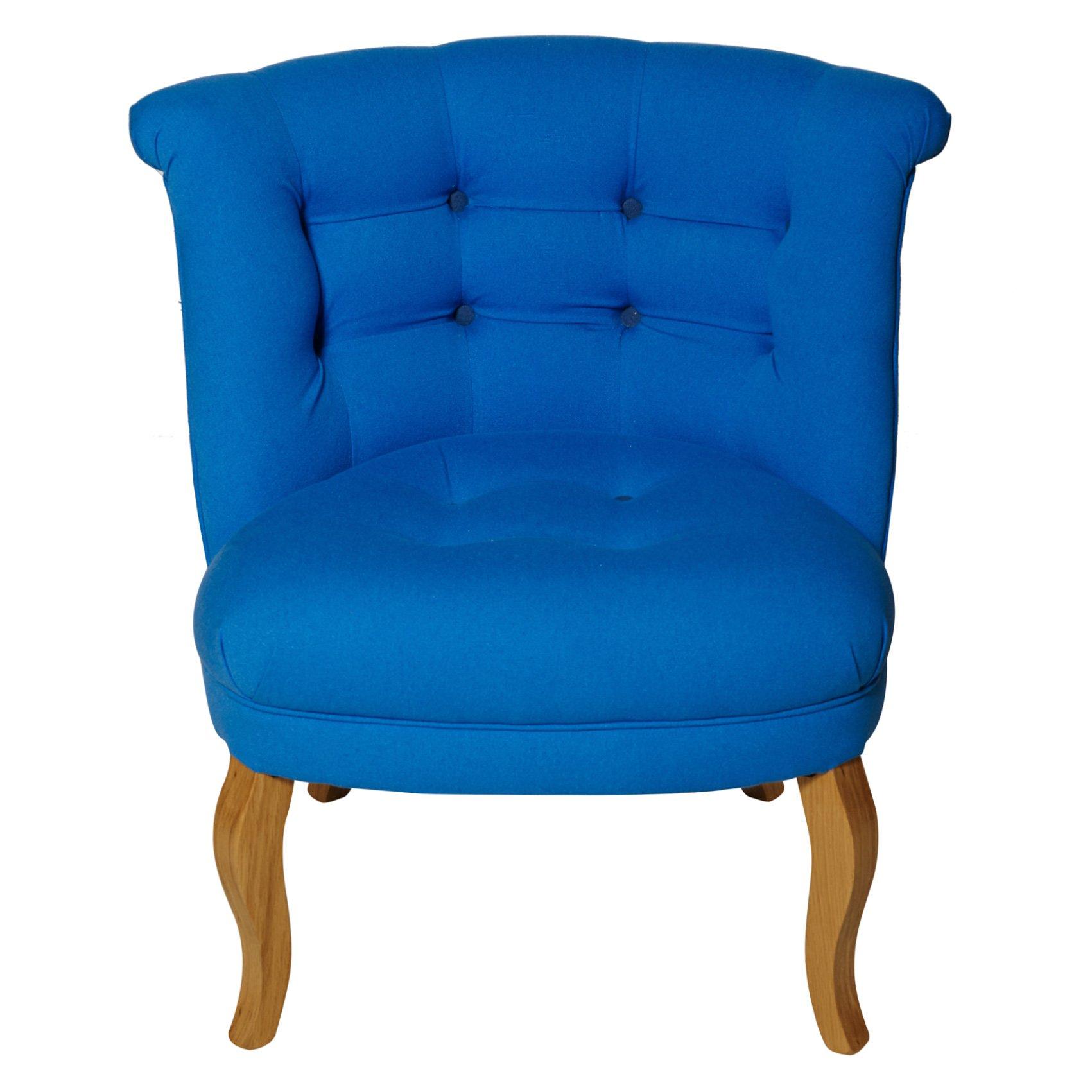 Cobalt Blue Cotton Tub Chair Oliver Bonas