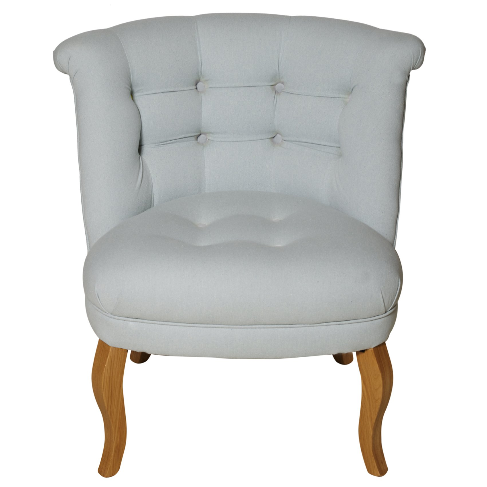 Duck Egg Cotton Tub Chair | Oliver Bonas