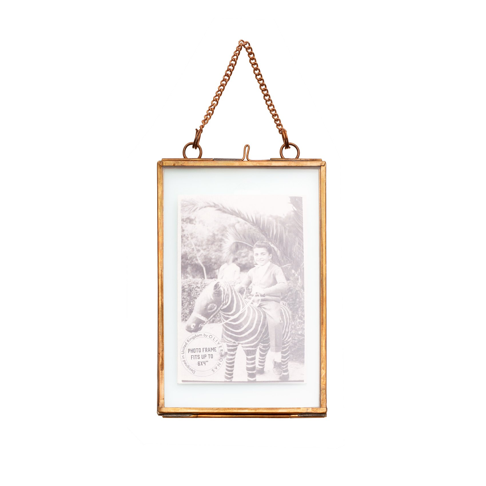 copper and glass hanging frame oliver bonas