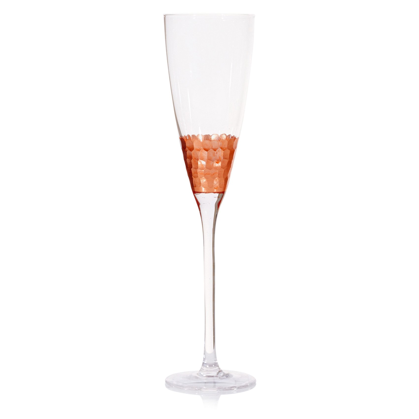 Copper Honey b Champagne Flute