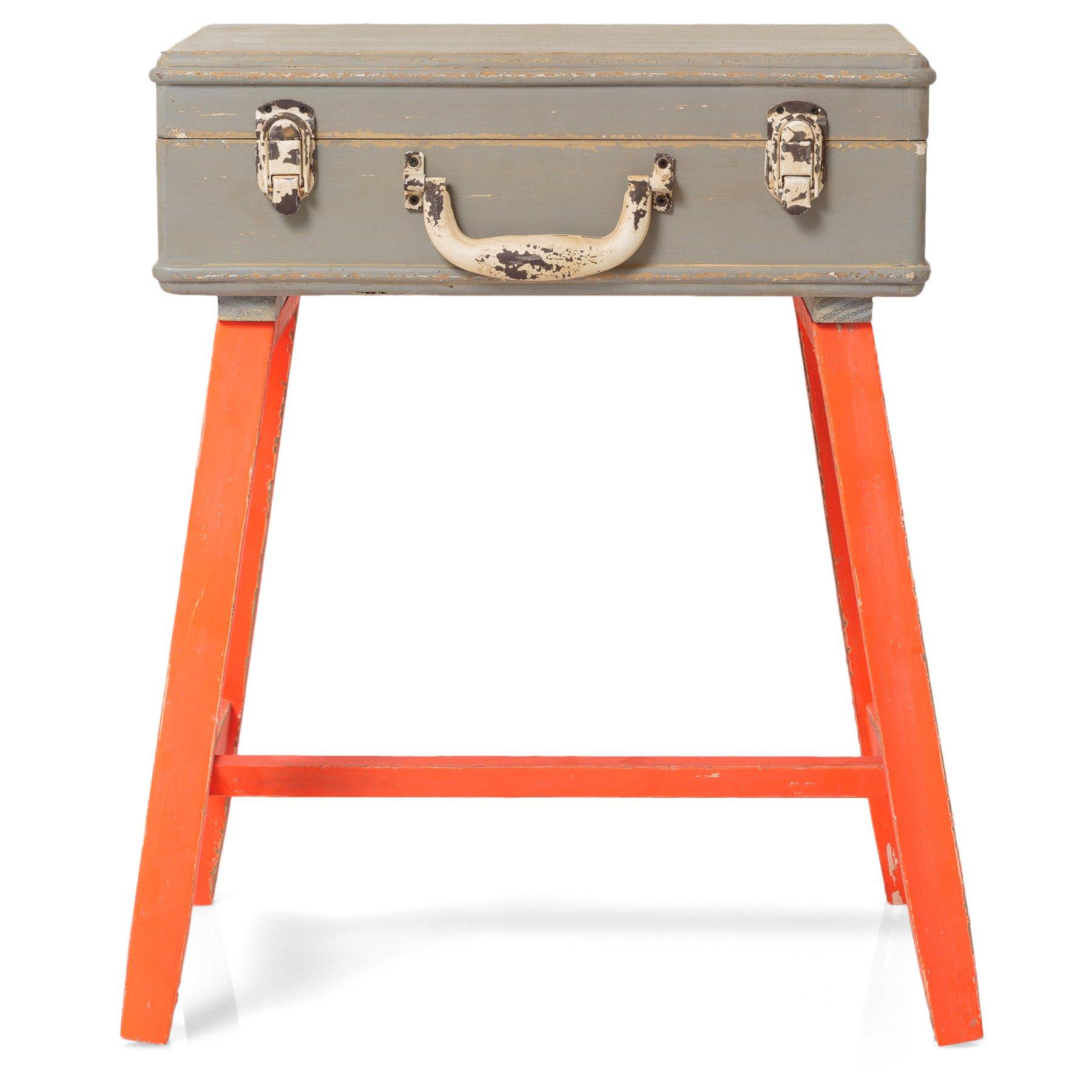 orange suitcase side table  oliver bonas -