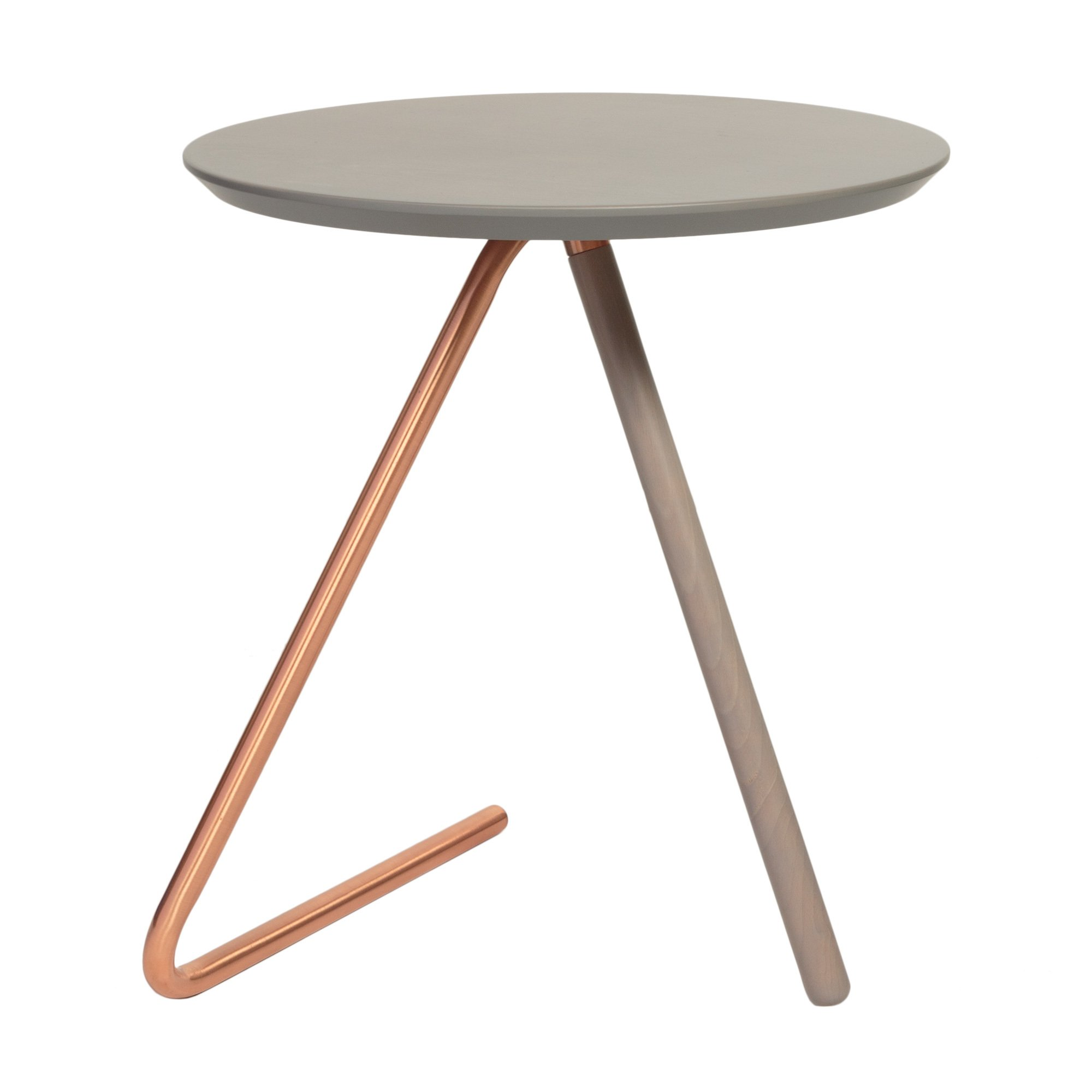 Less than three grey and copper side table oliver bonas for Table y copper