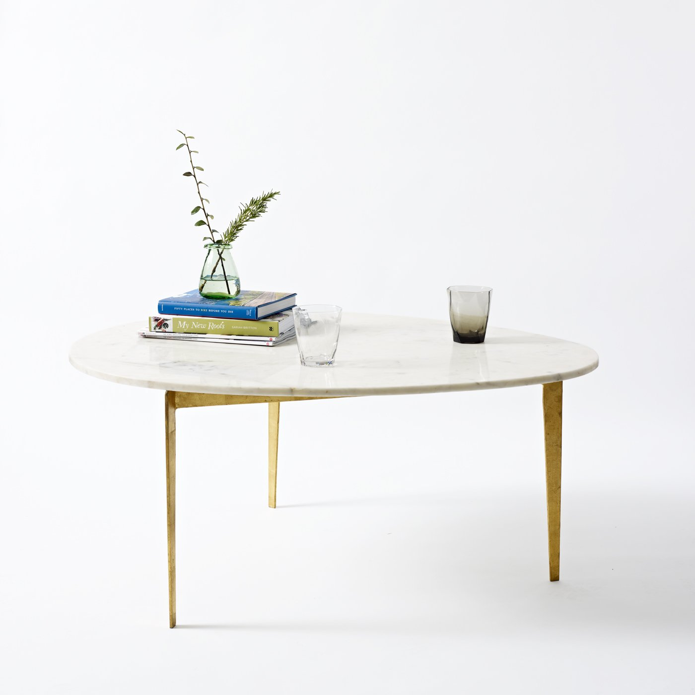 Gold Luxe Egg Coffee Table