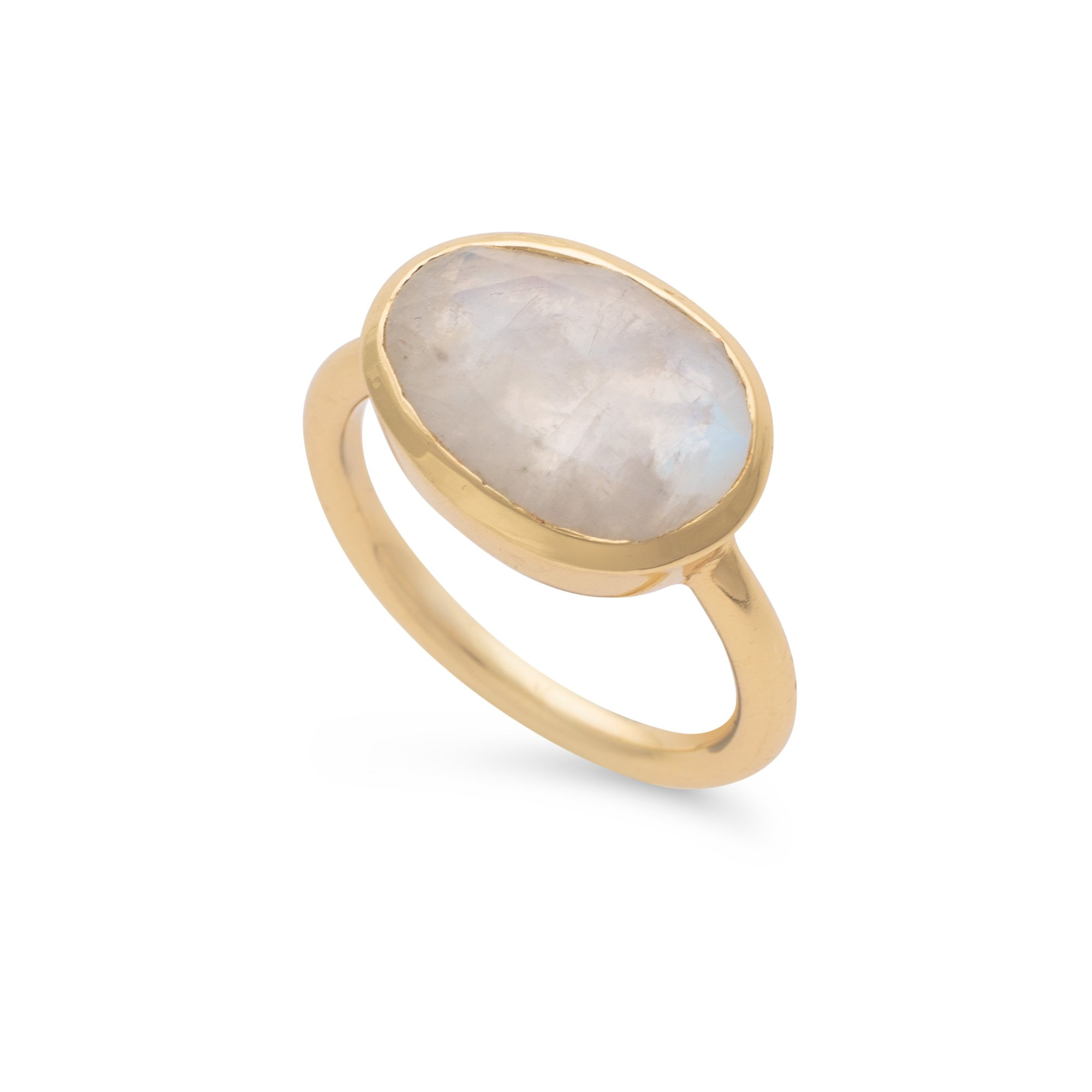 caymancode silver moonstone rings rainbow gold rose cut ring vintage