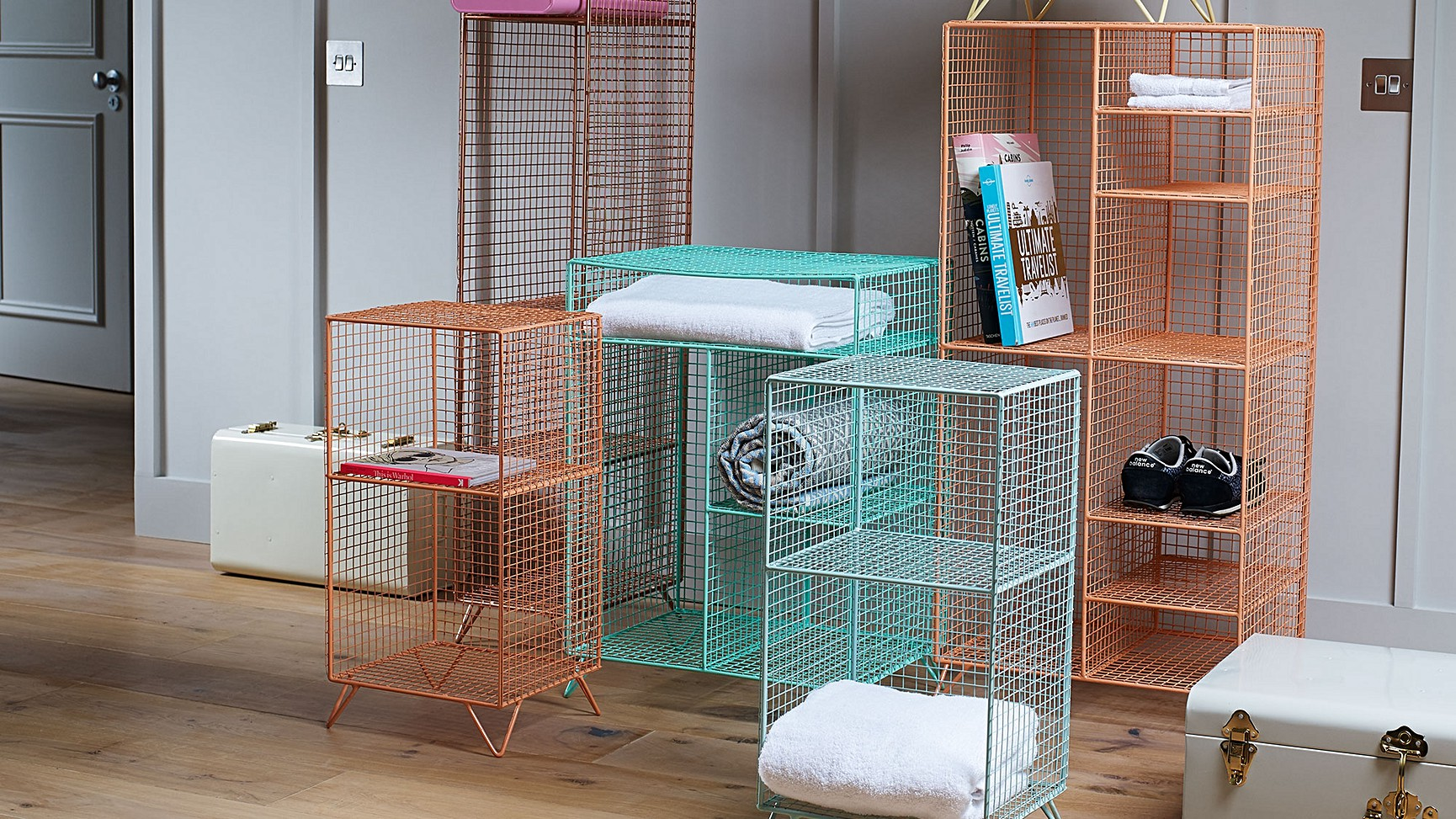 Coral Grid Eight Shelf Mix Match Storage Unit Oliver Bonas